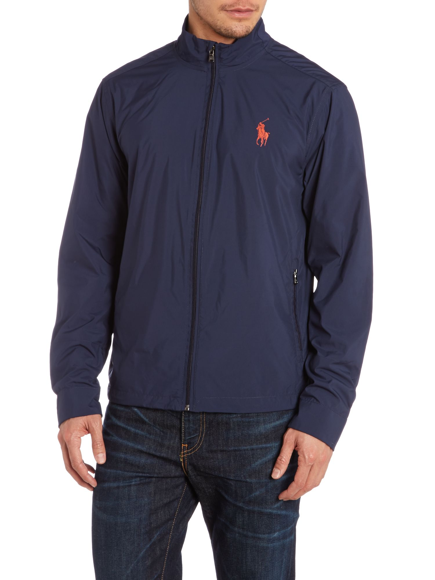Packable hooded core breaker jacket