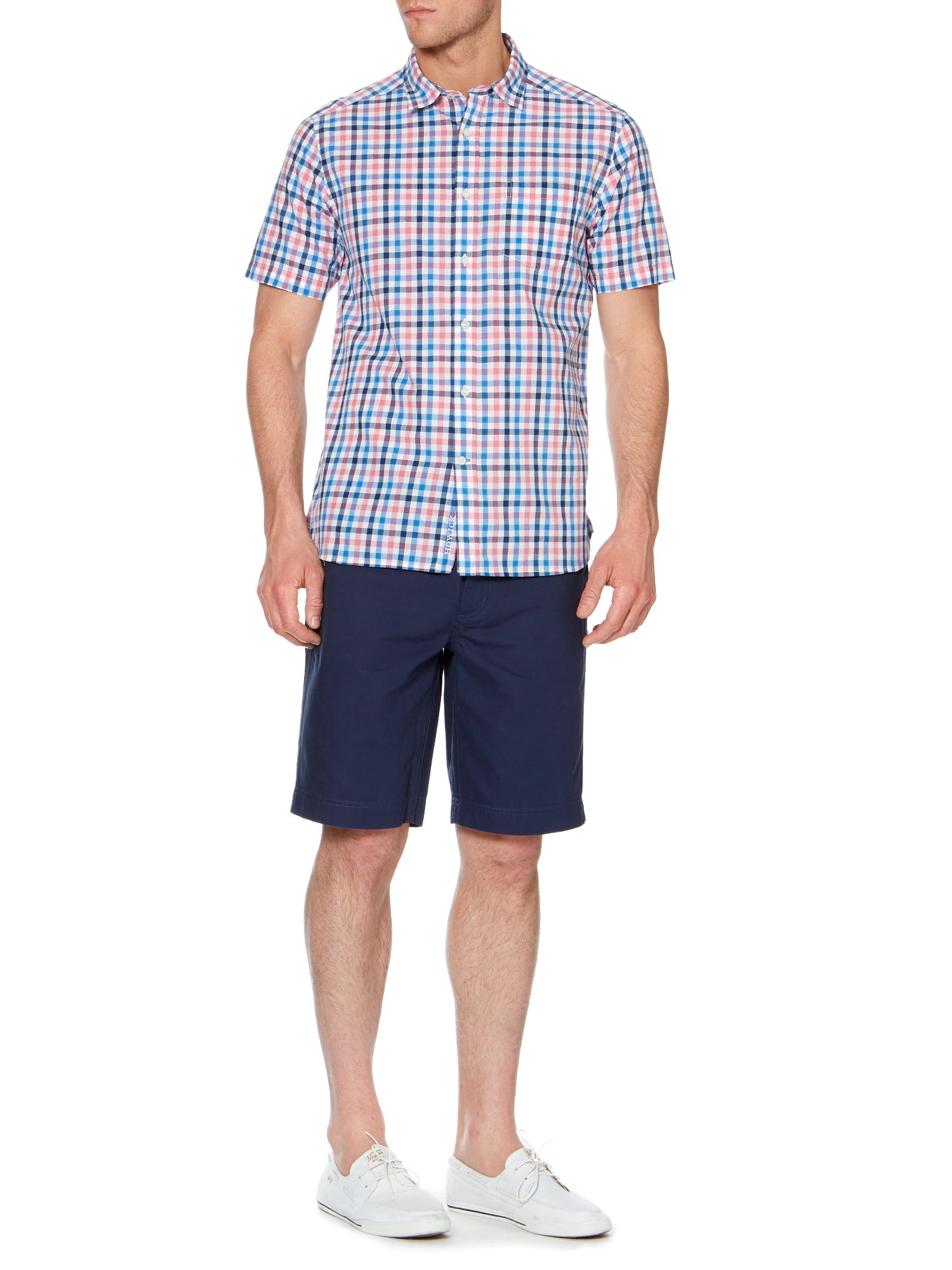 caslano check short sleeve shirt