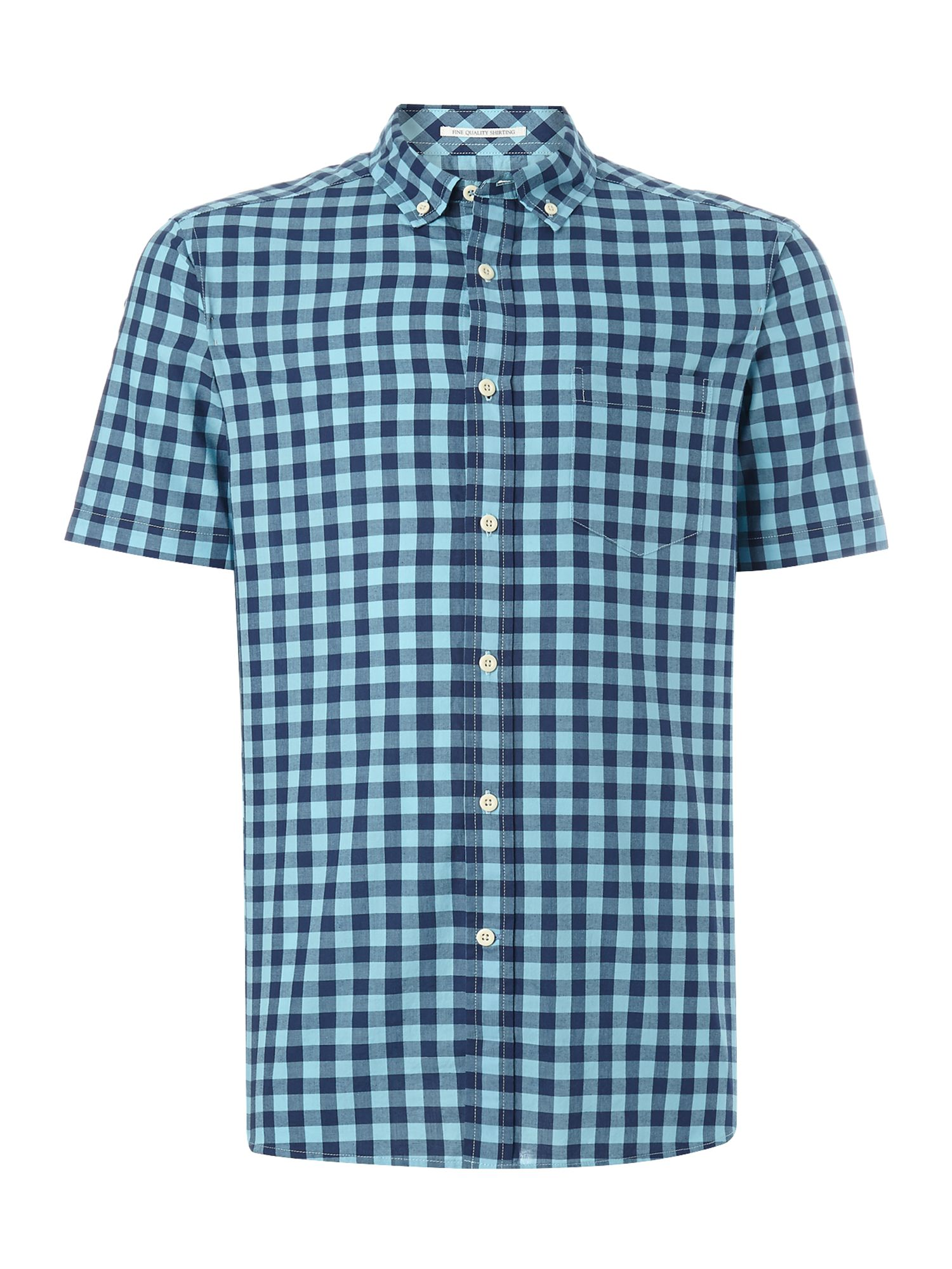 toscana check short sleeve shirt