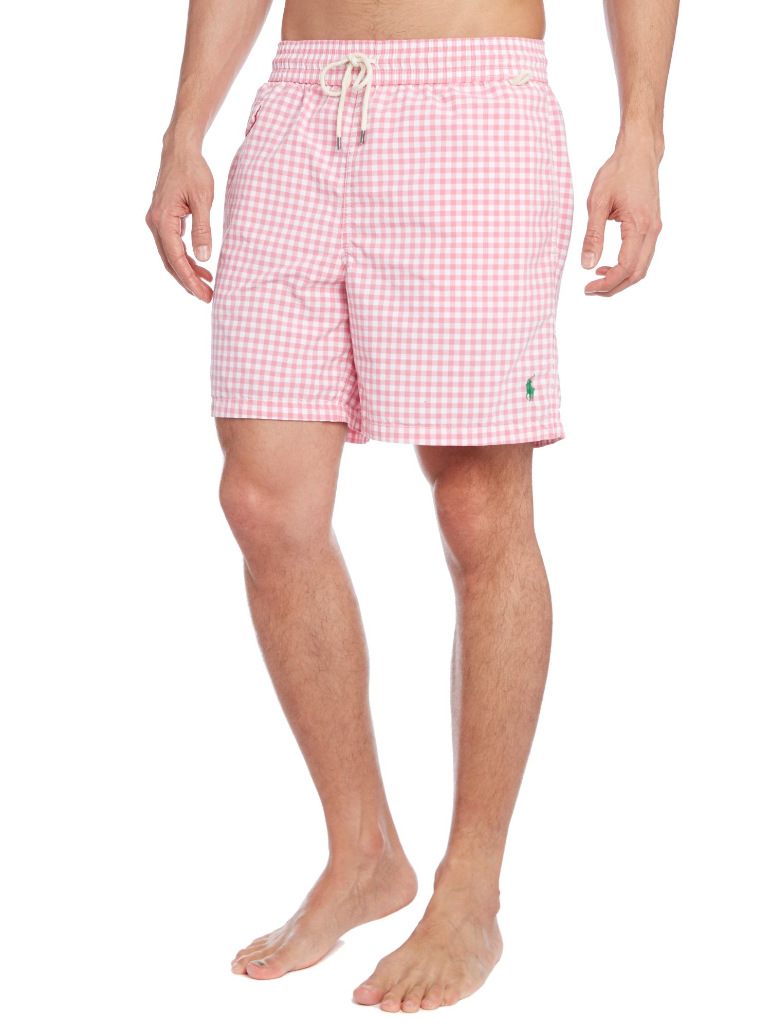 Gingham swim short