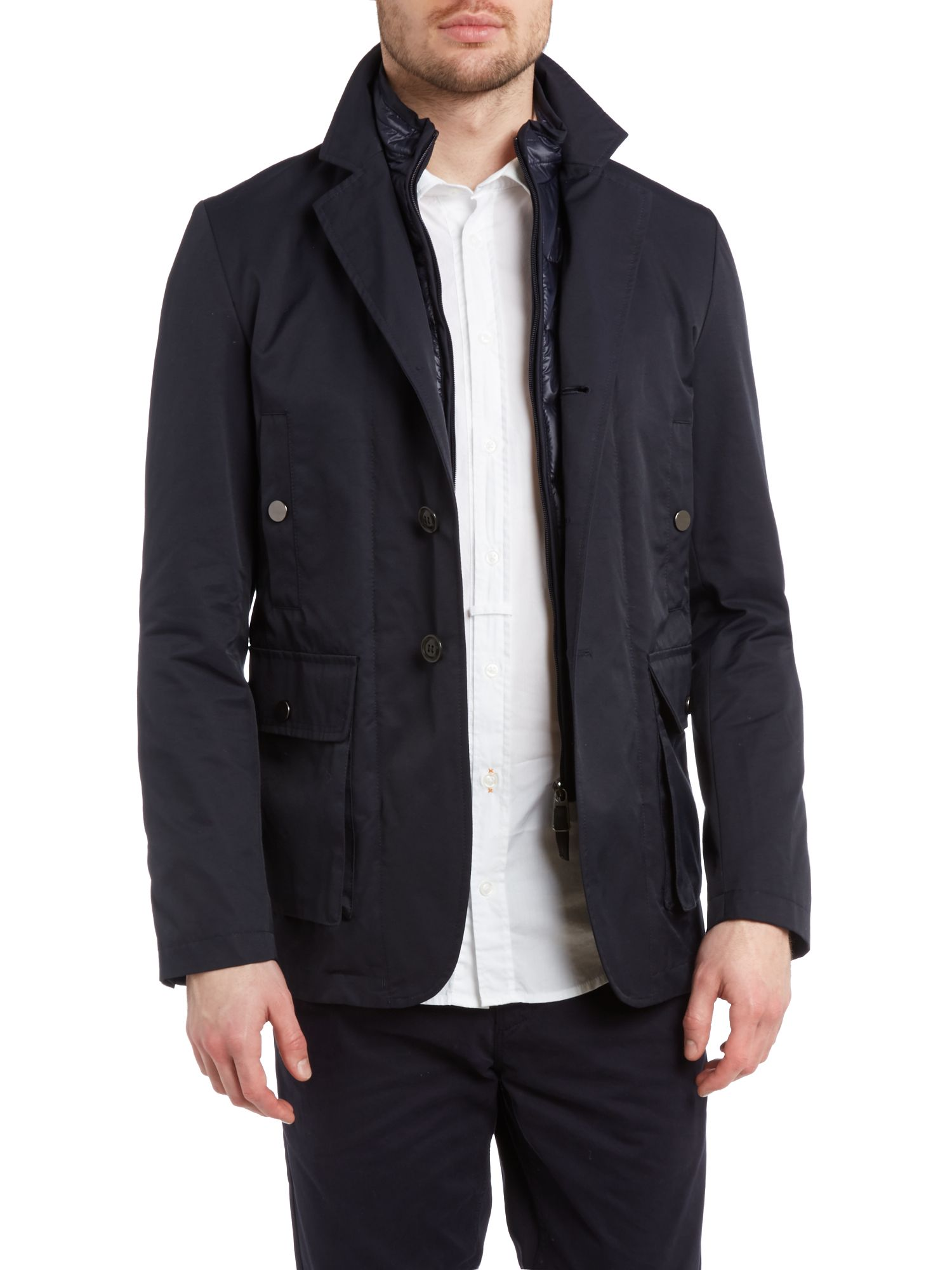 Roger duffel coat with inner jacket