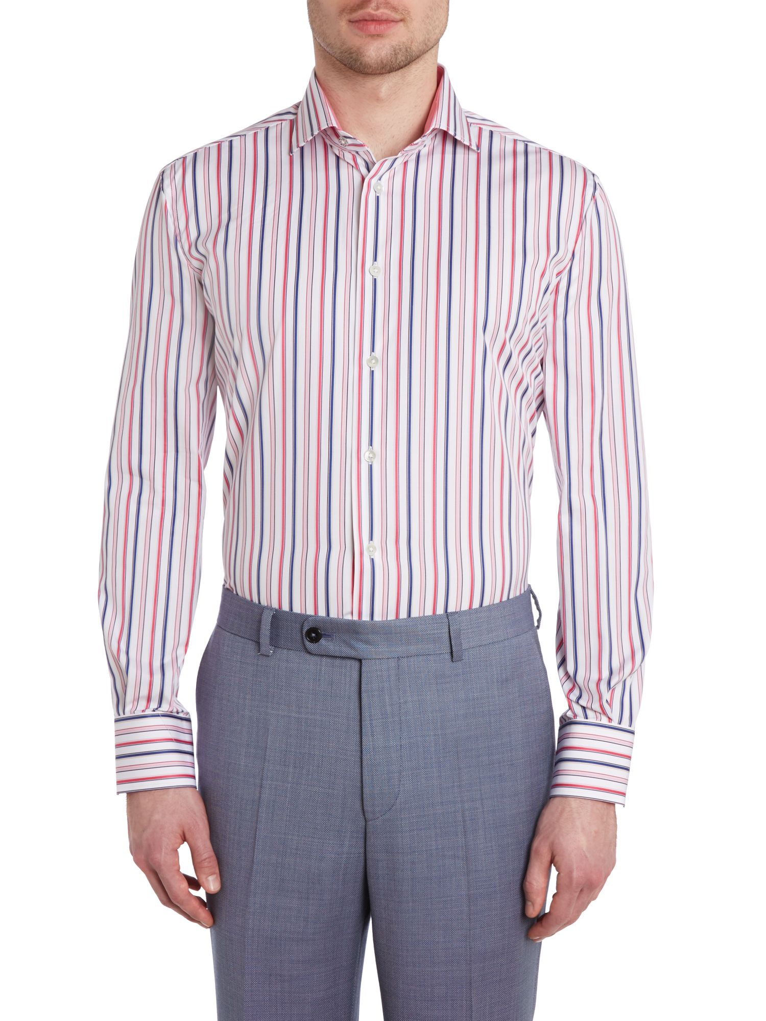 Kingswood regular fit butchers stripe shirt