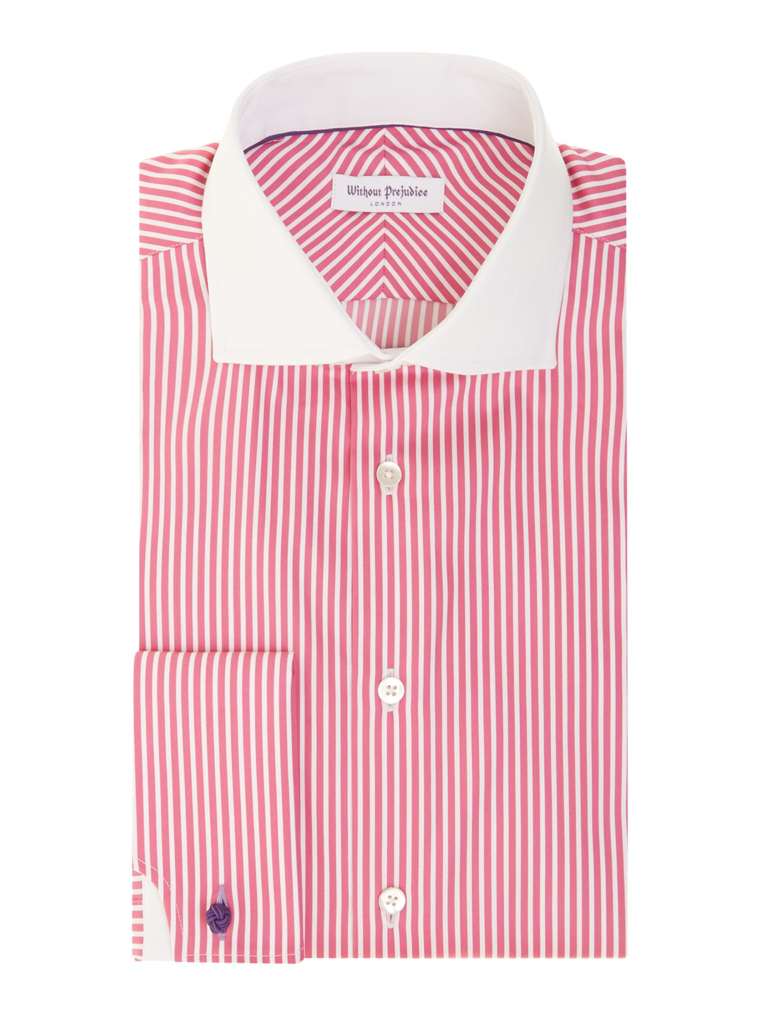 Kingswood regular fit double cuff stripe shirt