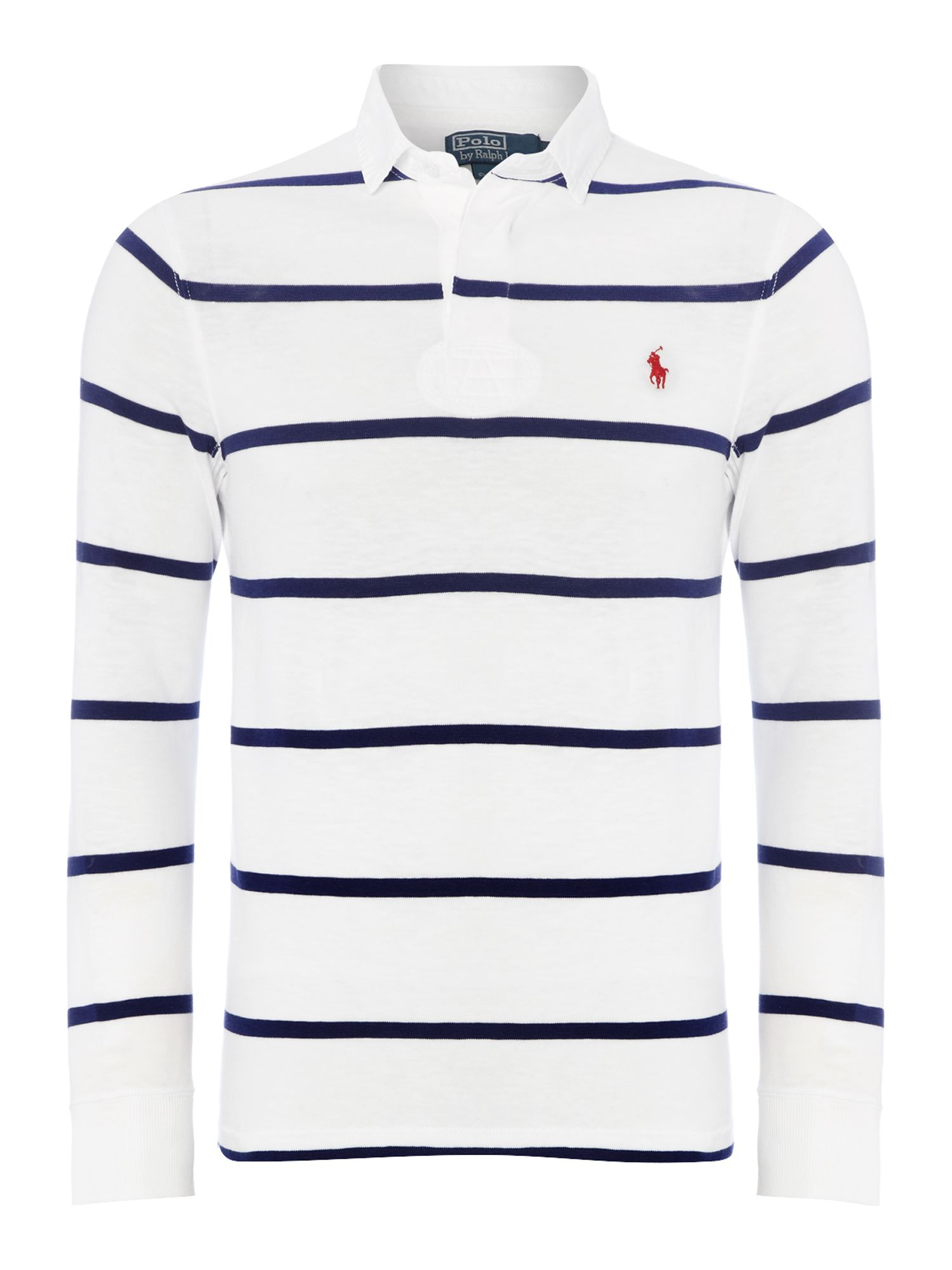 Custom fit long sleeve striped rugby shirt