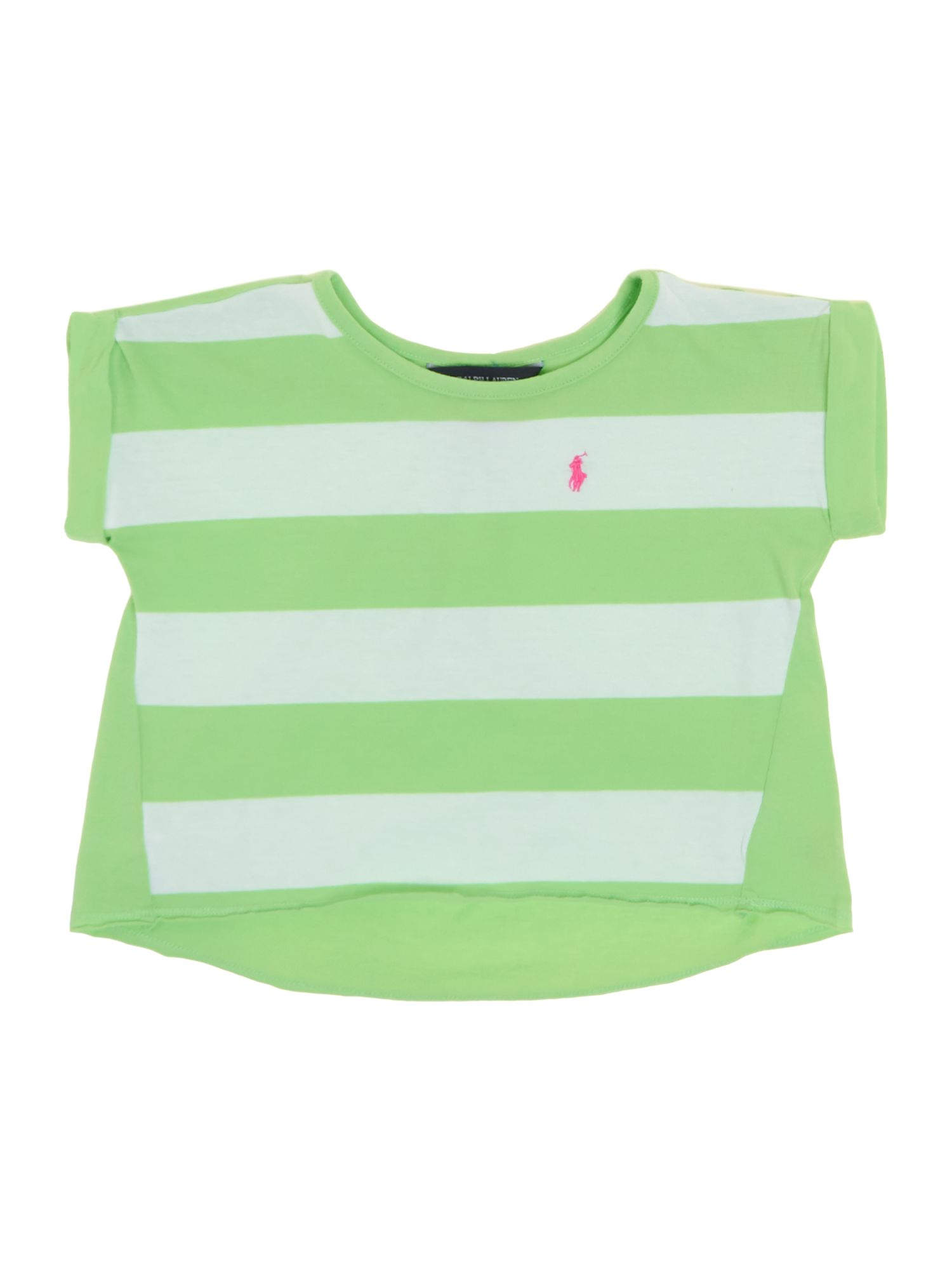 Girls block stripe t-shirt