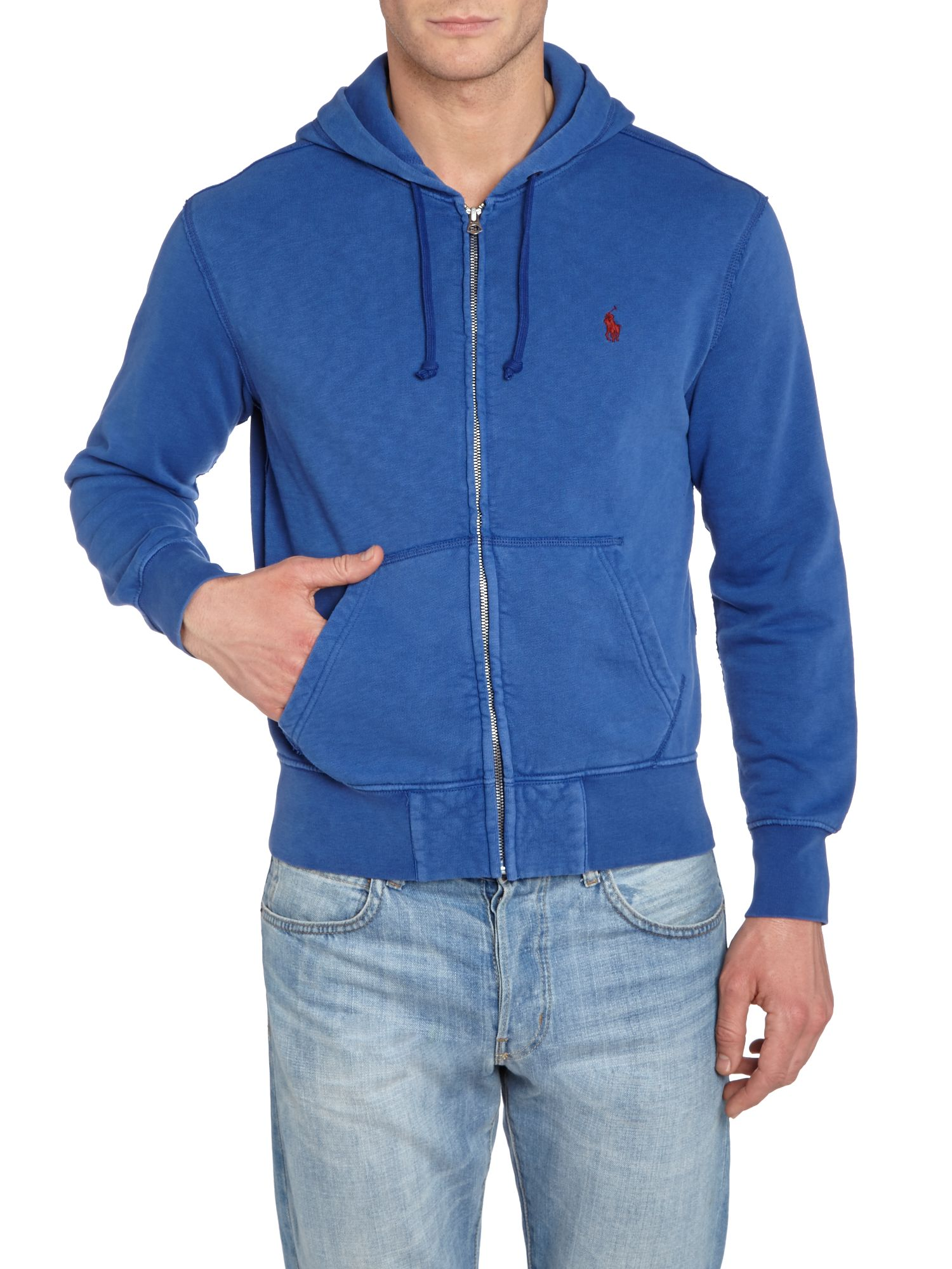 Classic zip through hooded sweatshirt