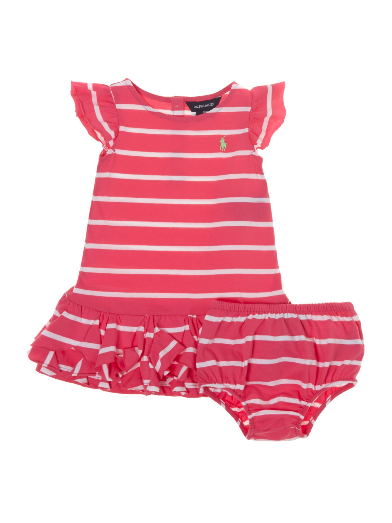 Girls ruffle stripe dress