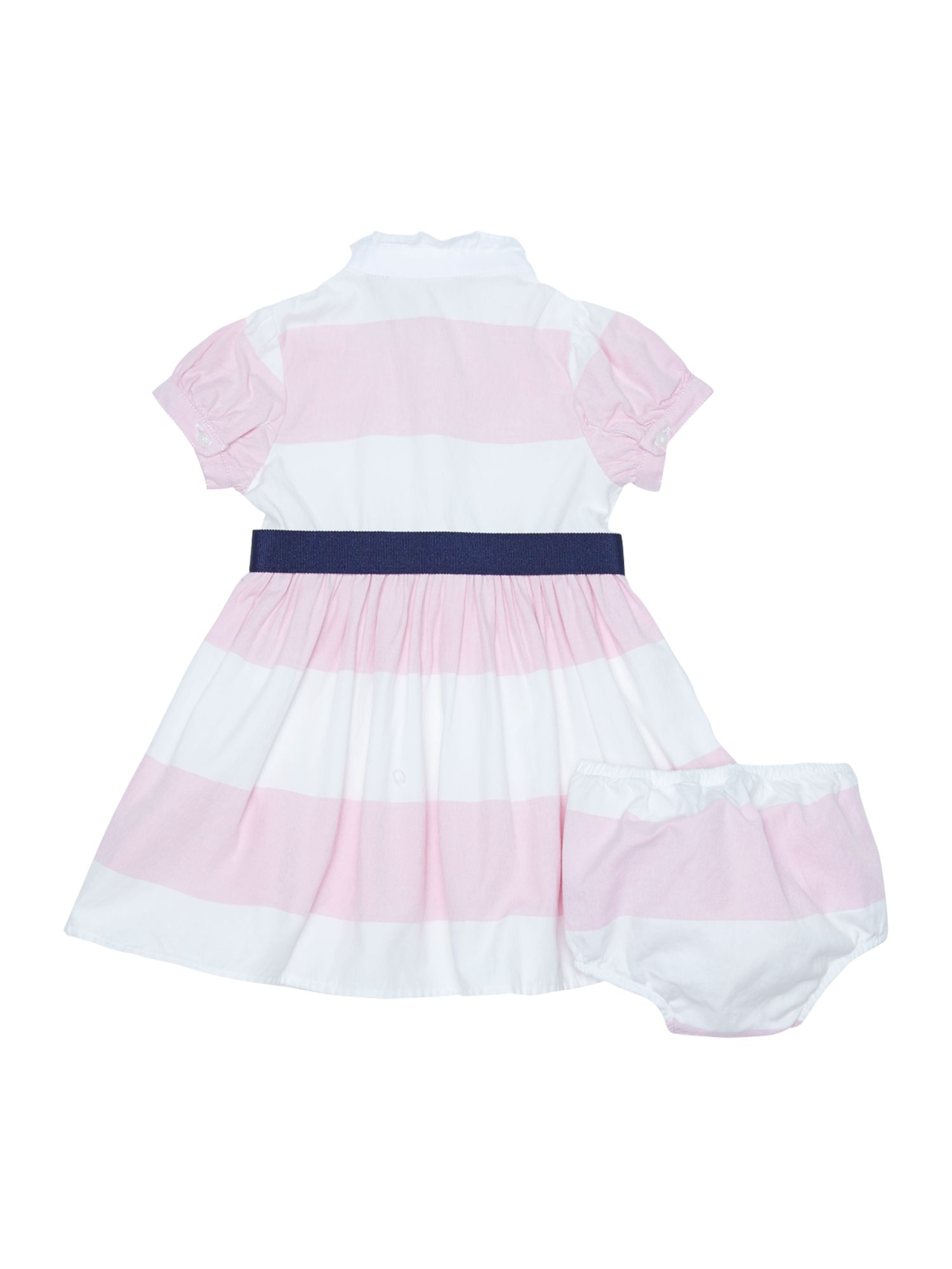 Girls block stripe dress