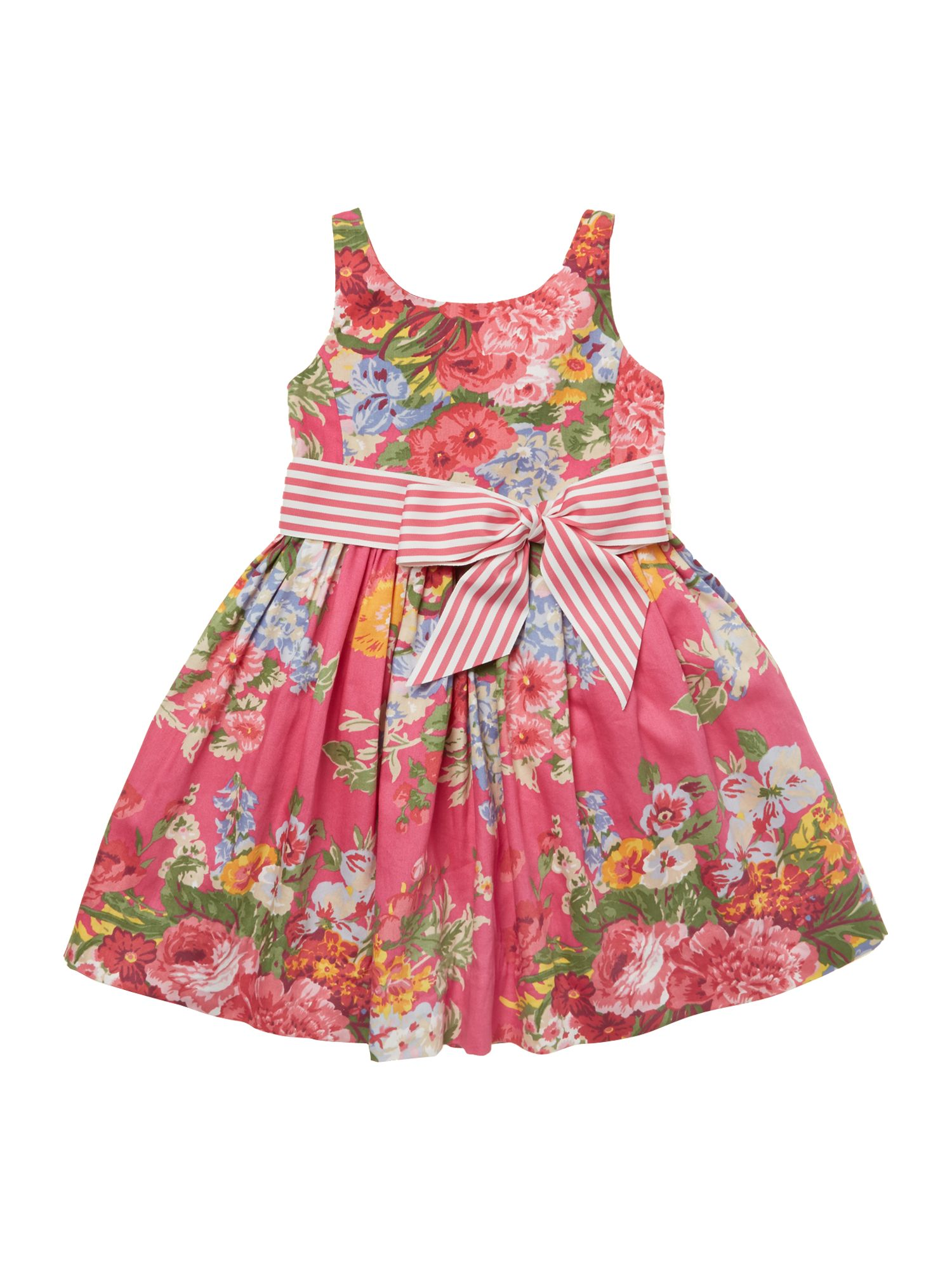 Girls bold floral dress