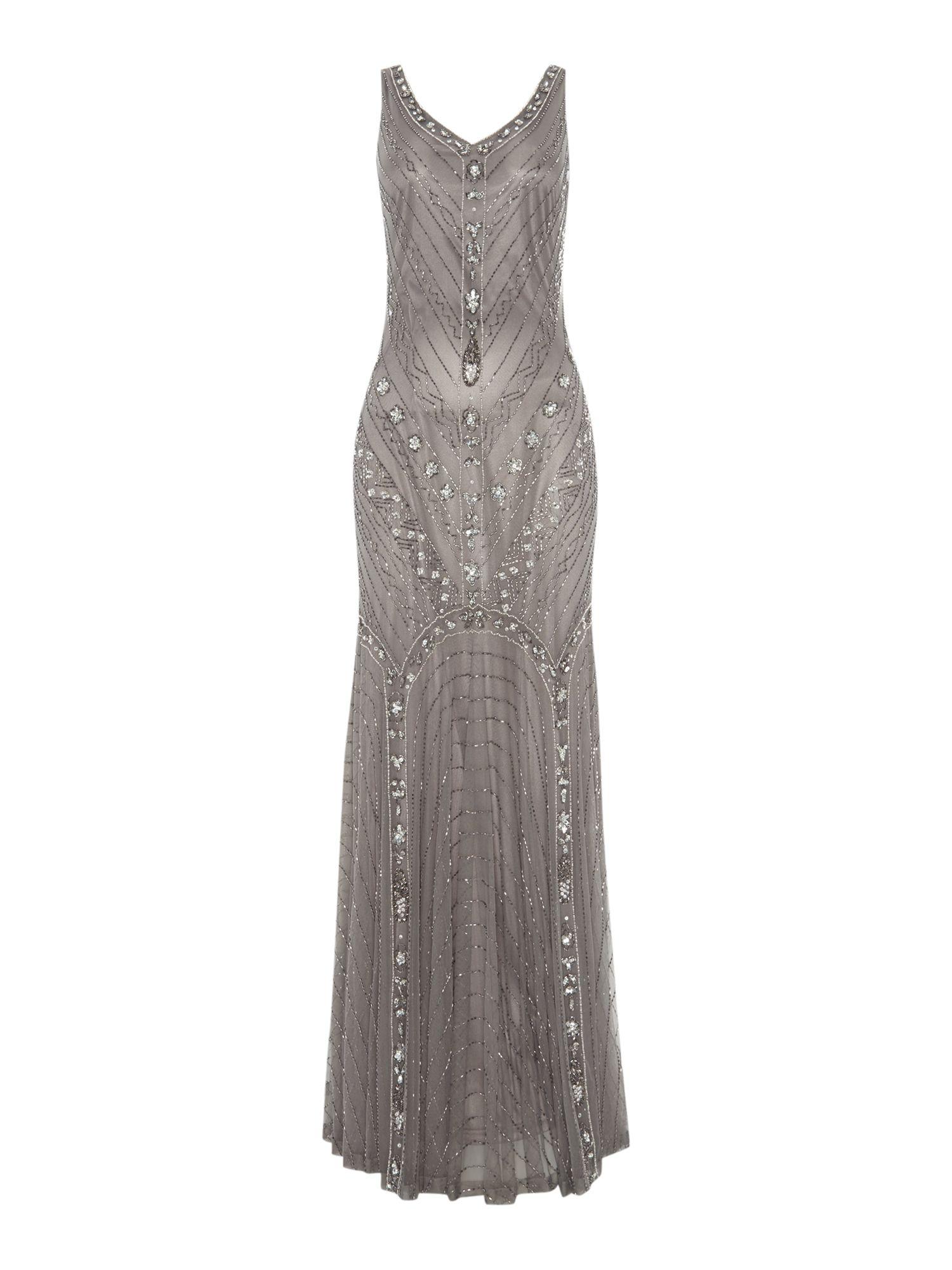 Fishtail Beaded Dress
