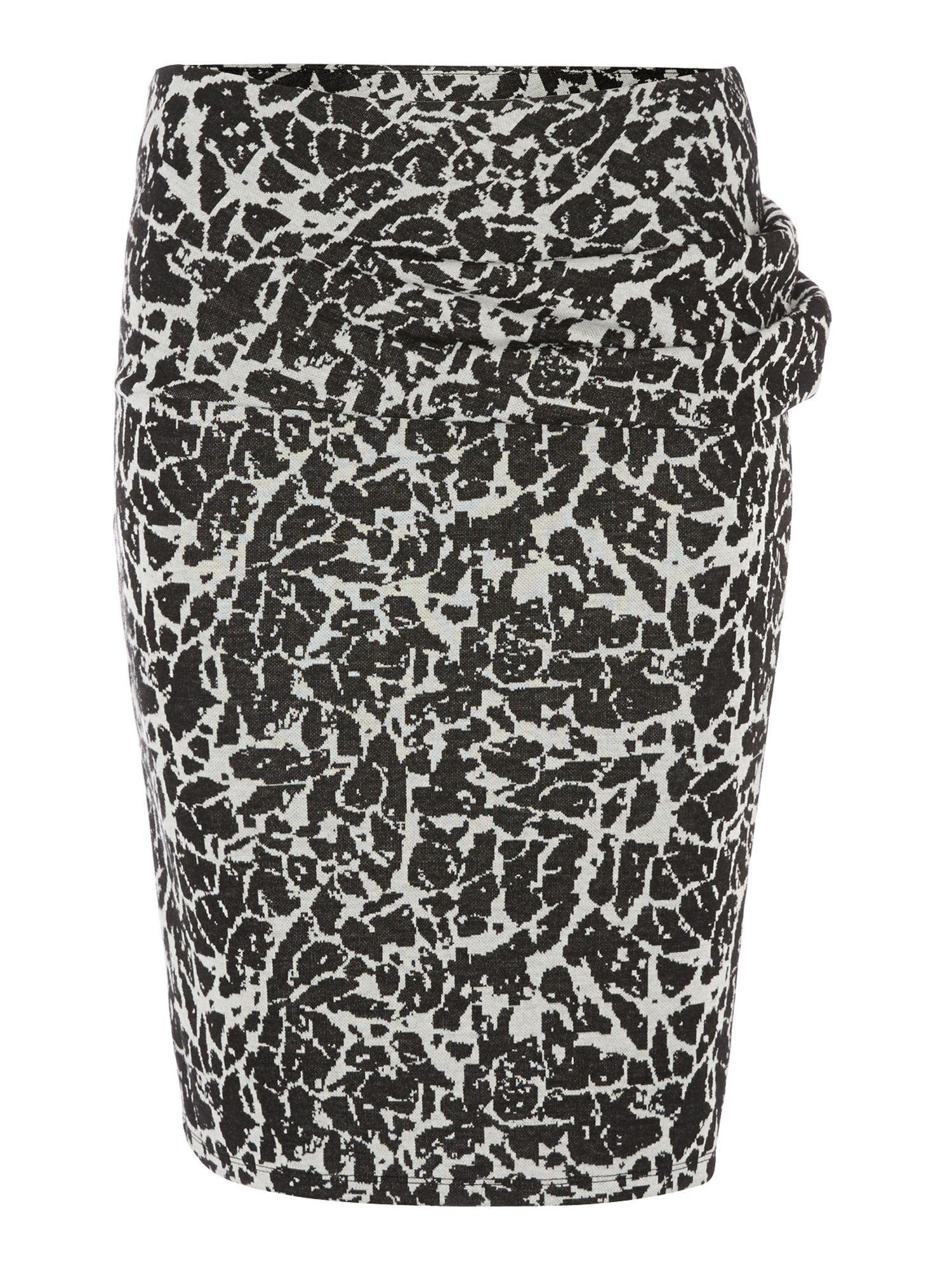 Marbled jacquard no brainer skirt
