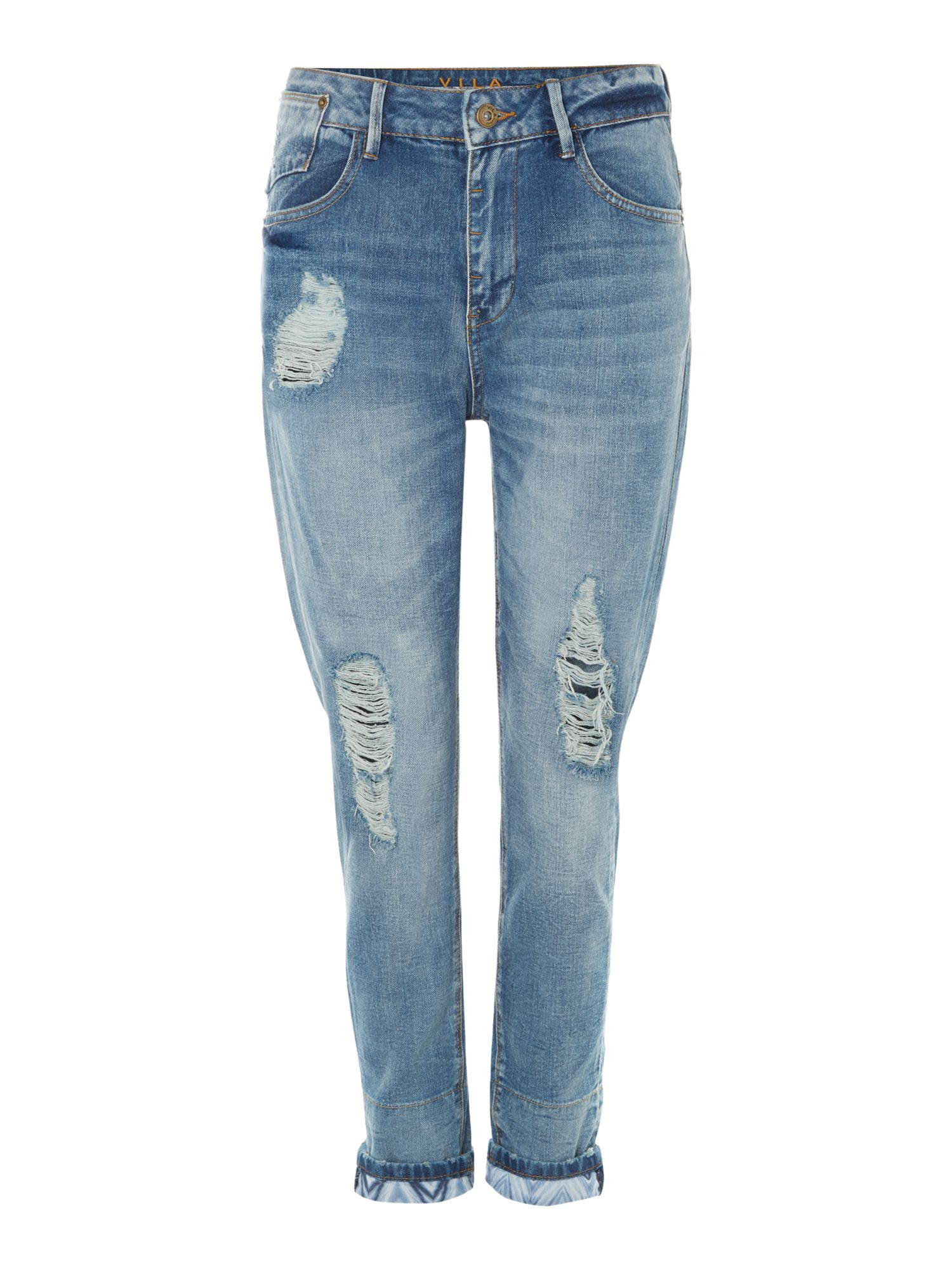 Boyfriend distressed jeans