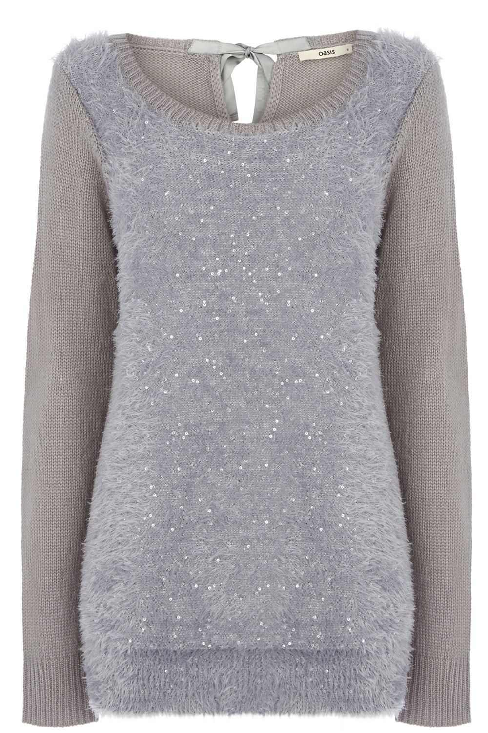 Sequin fluffy front top