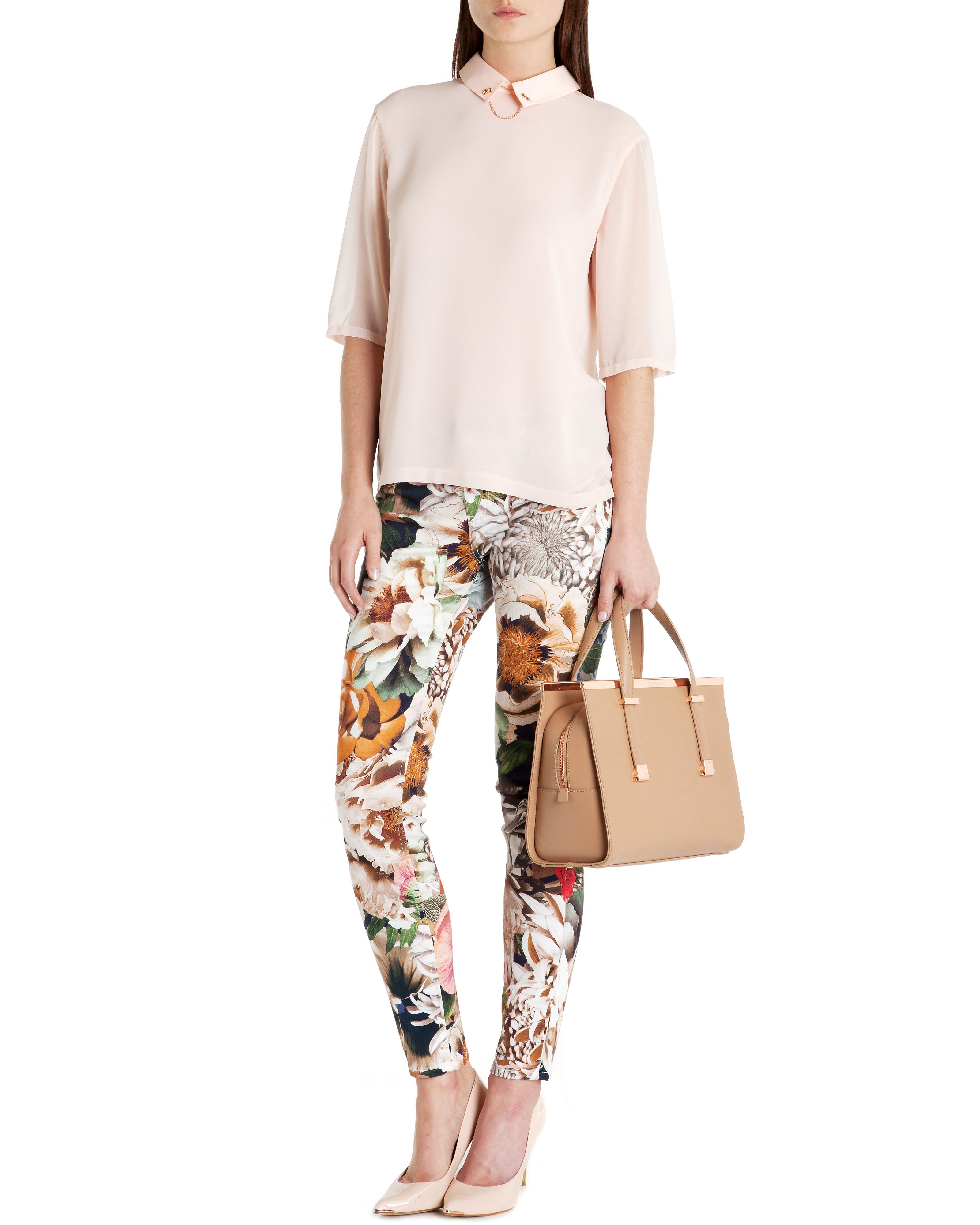 Tessah tangled floral printed denim