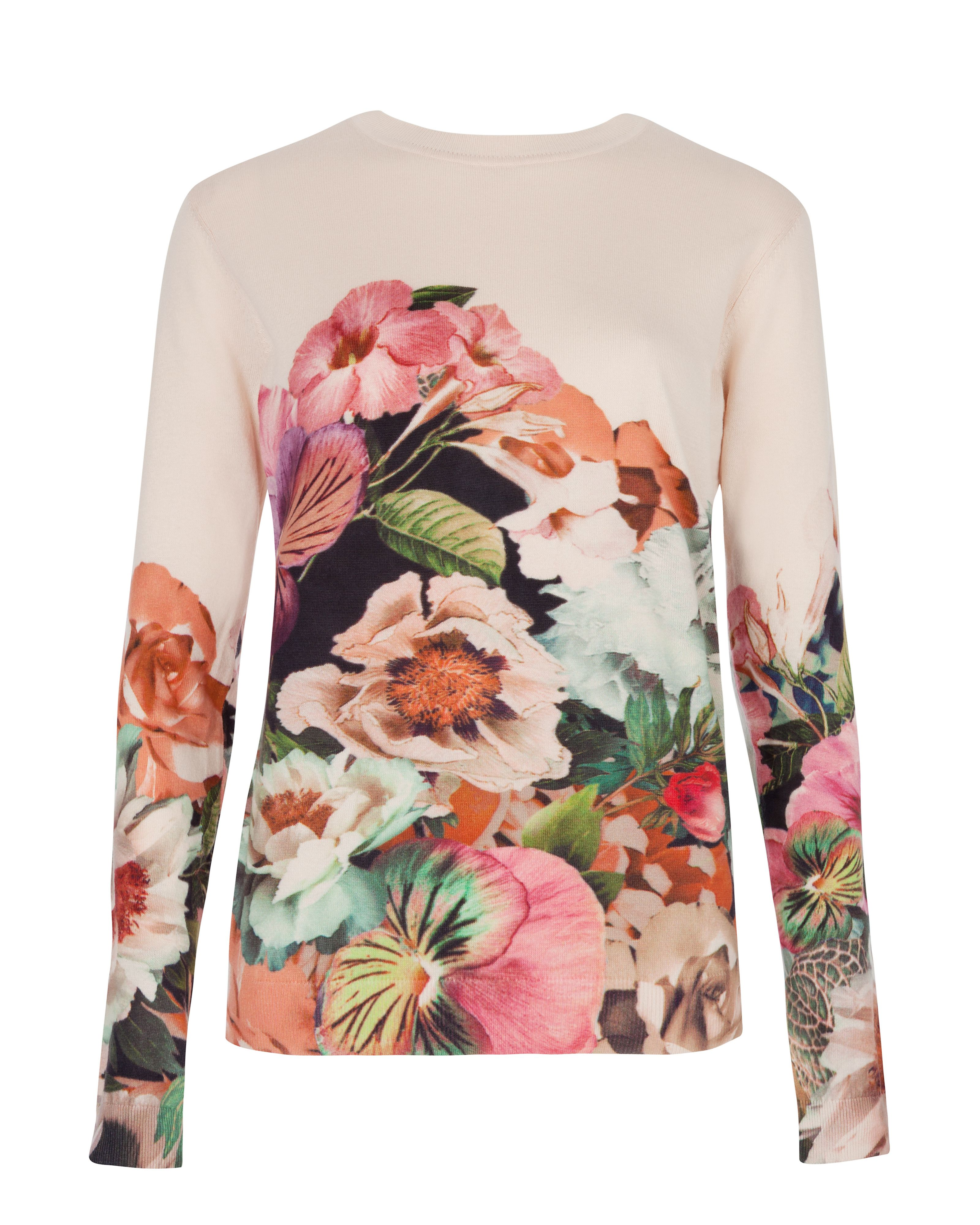 Ivorry tangled floral print sweater