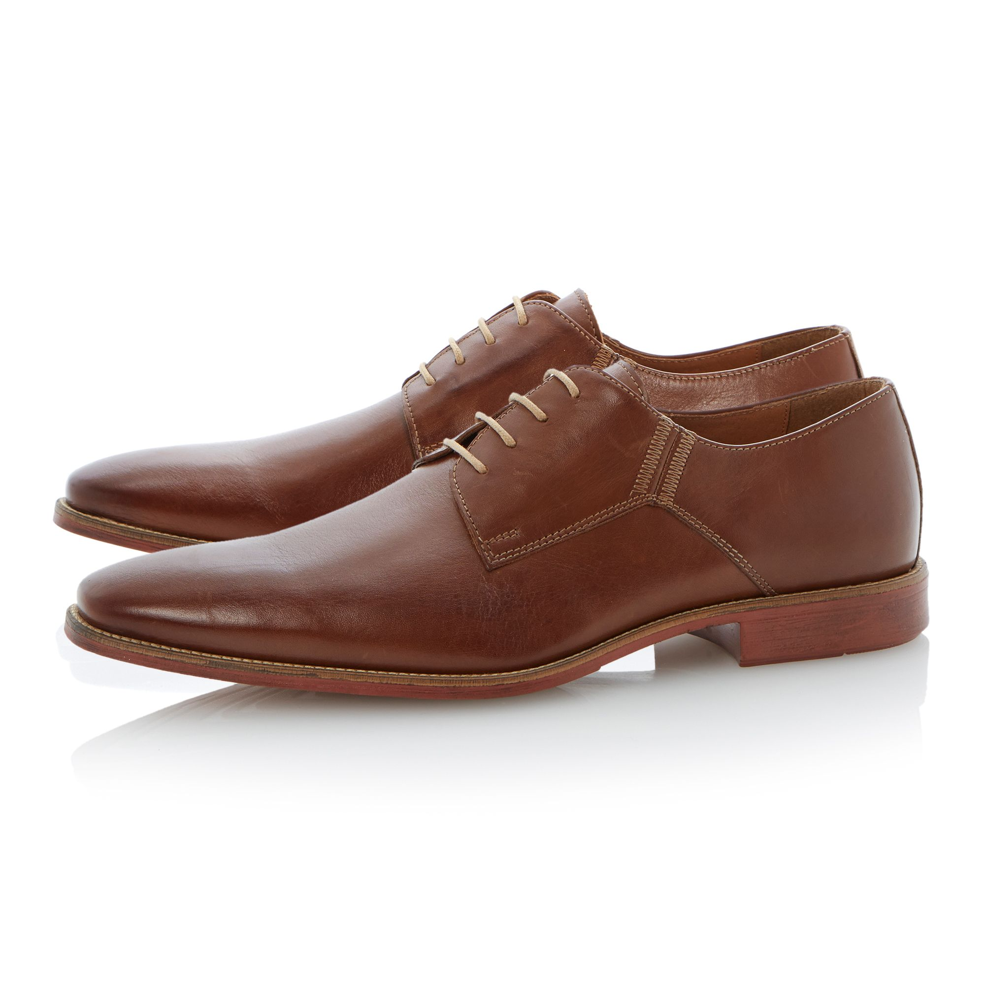 Belgravia contrast stitch chisel lace up