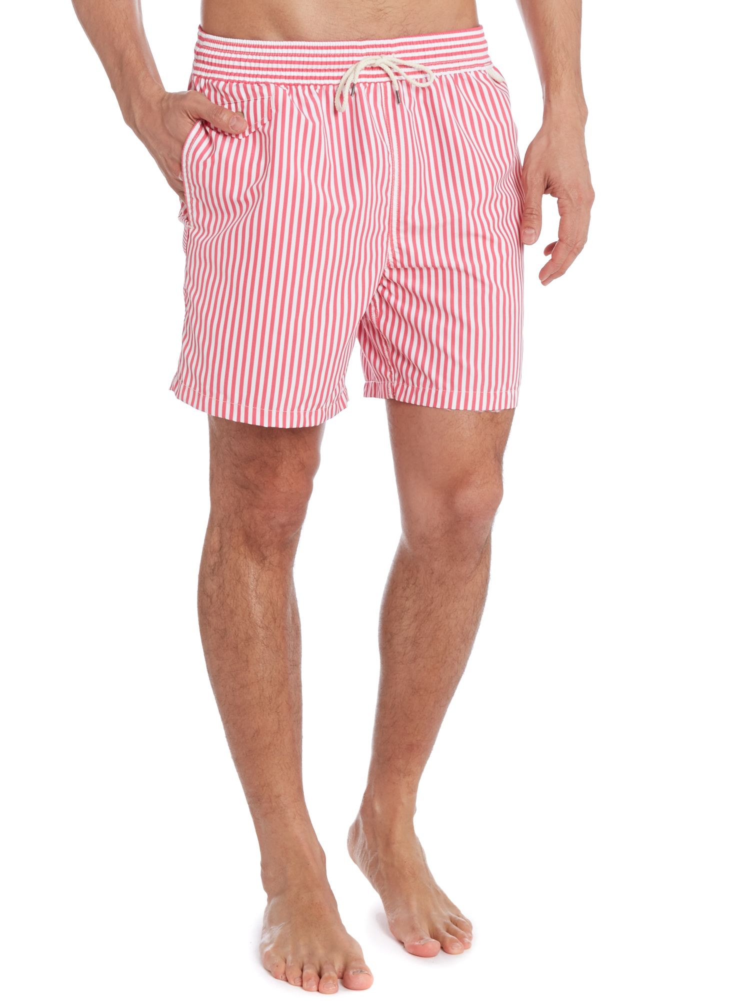 Butcher stripe swim short