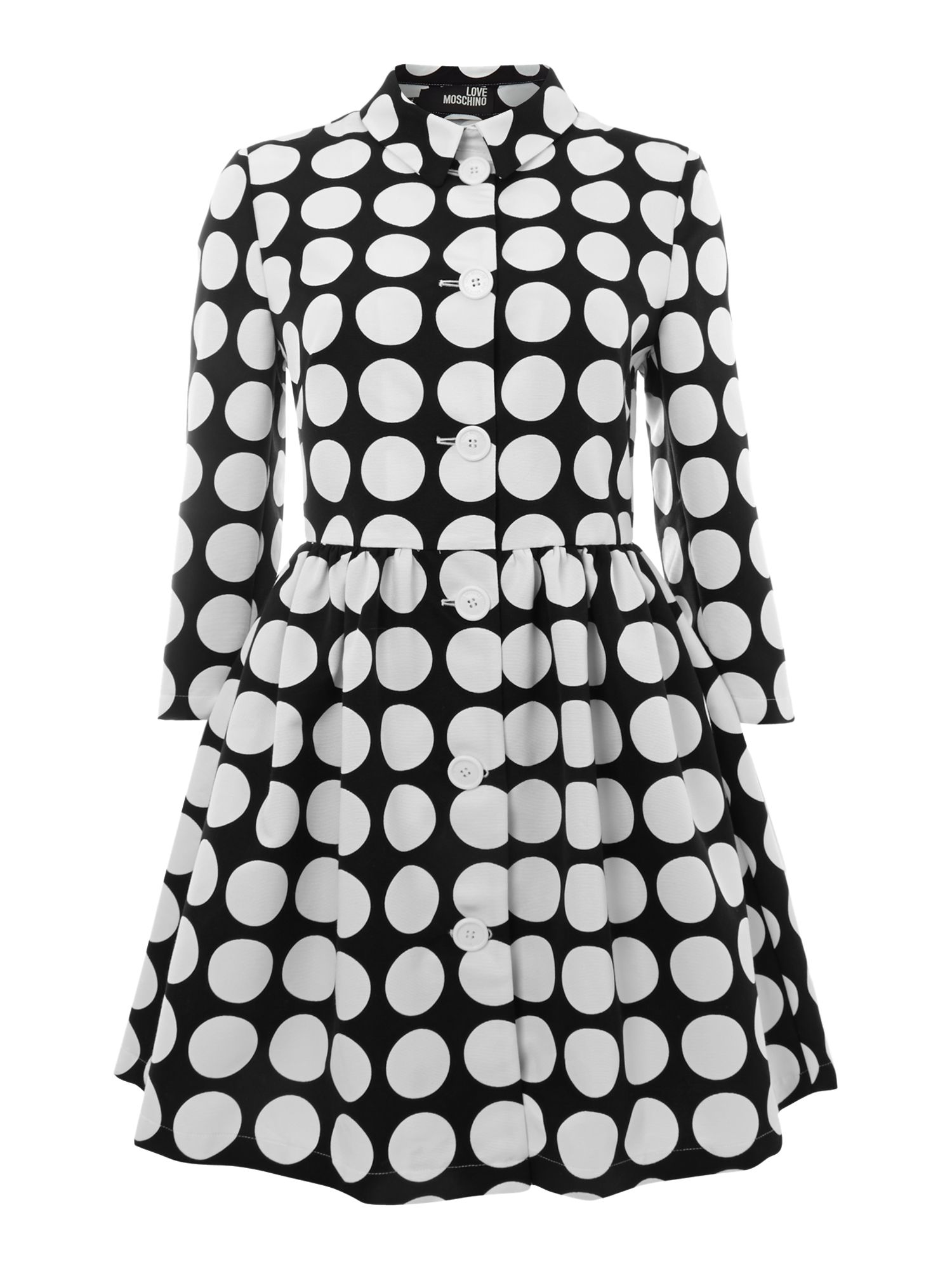 Polka pleated waist jacket