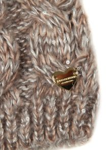 Sequin detail knitted hat