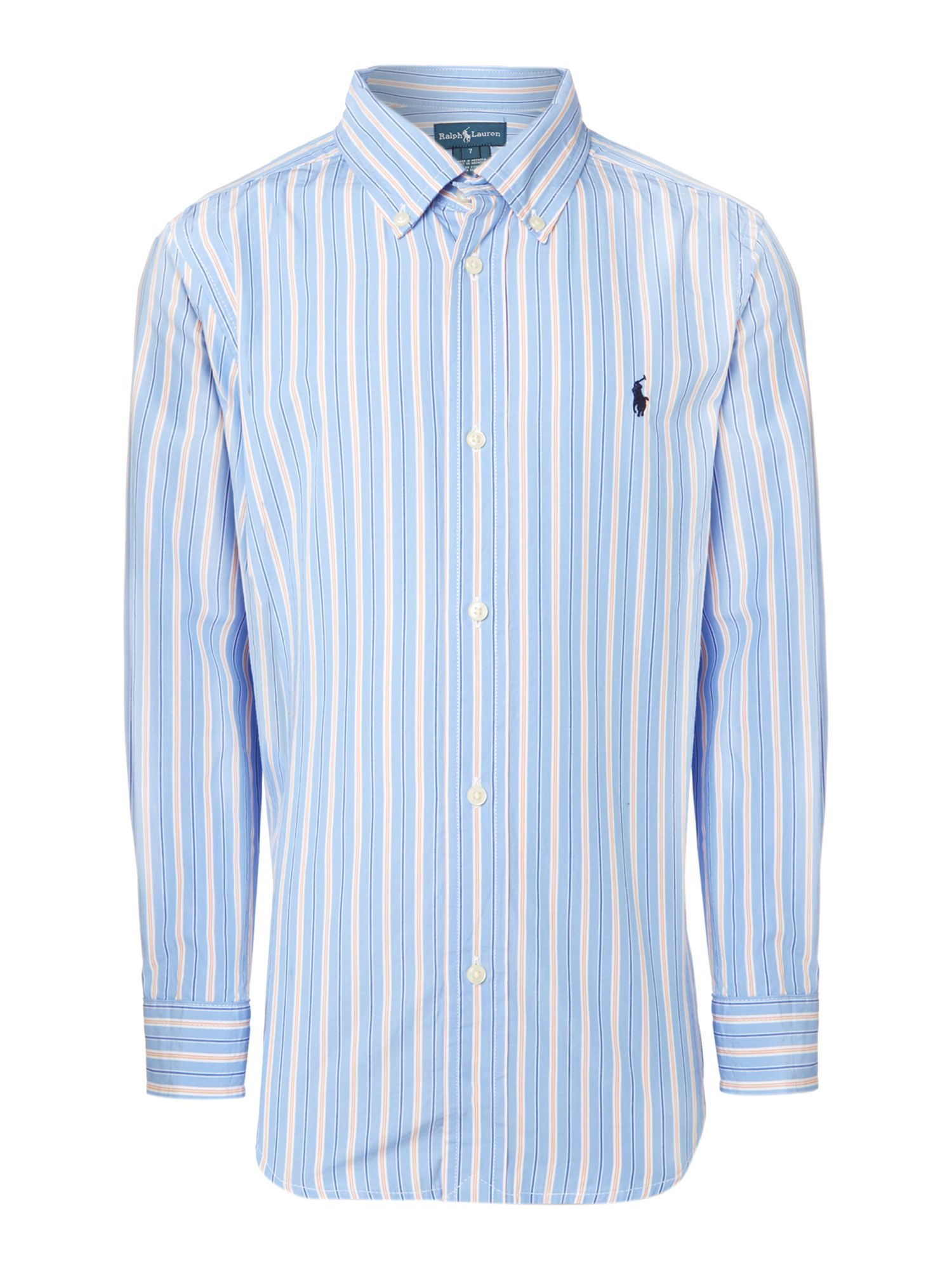 Boy`s contrast stripe shirt