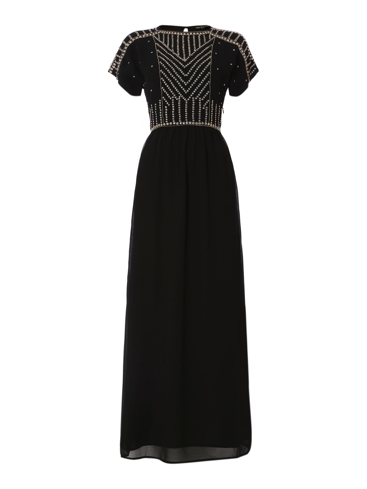 Studded column maxi dress