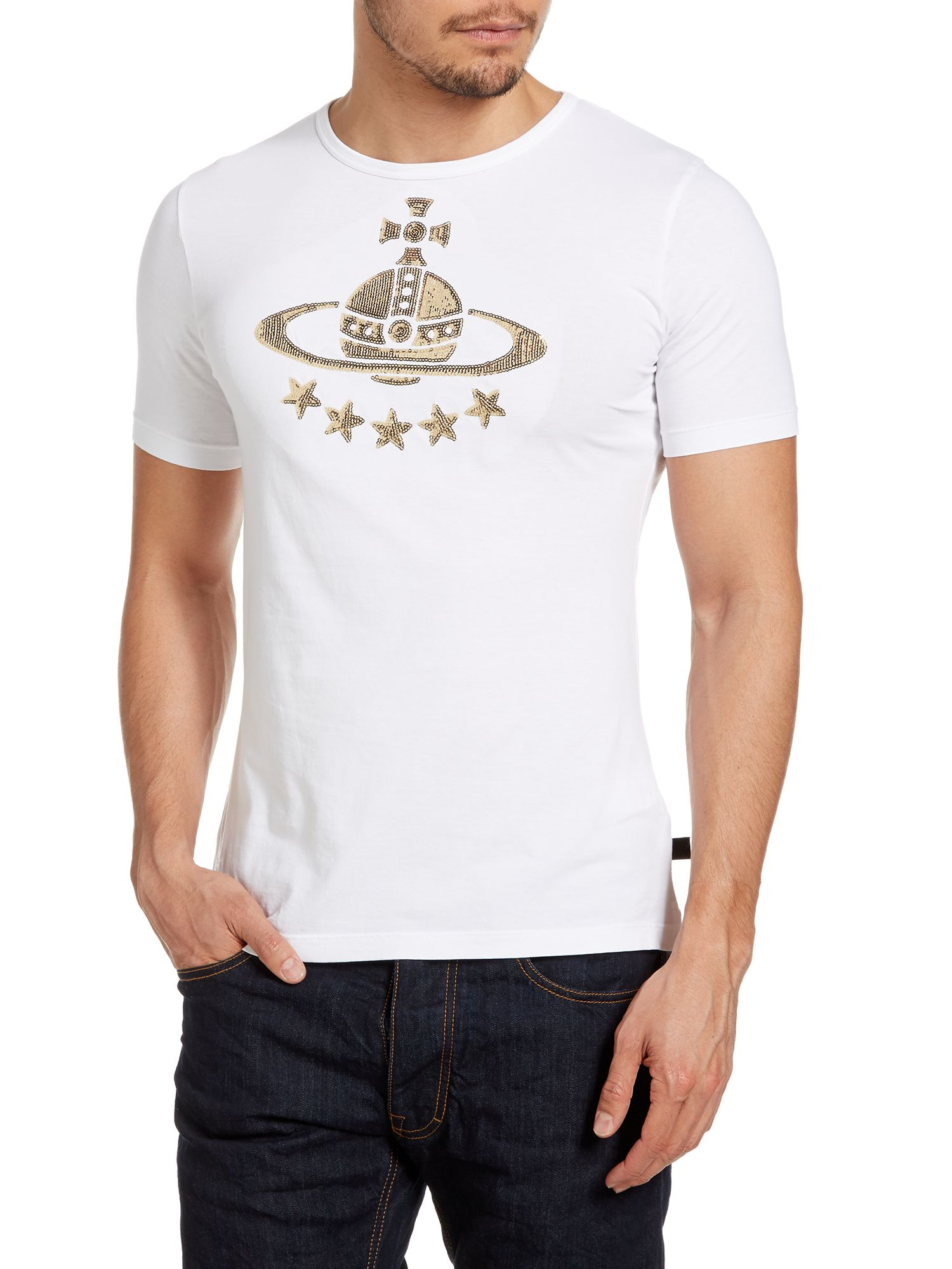 Sequined orb t-shirt