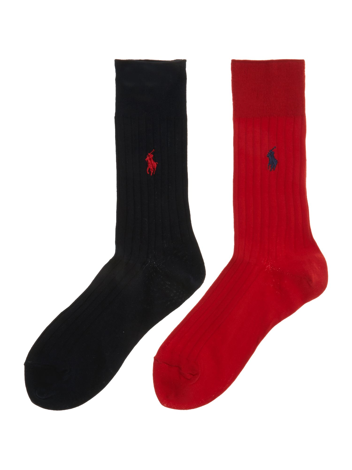 2 pack egyptian cotton ribbed sock