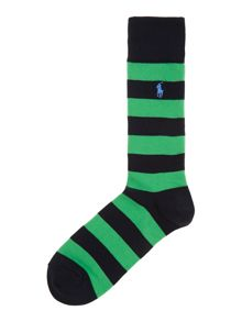 2 pack rugby stripe sock