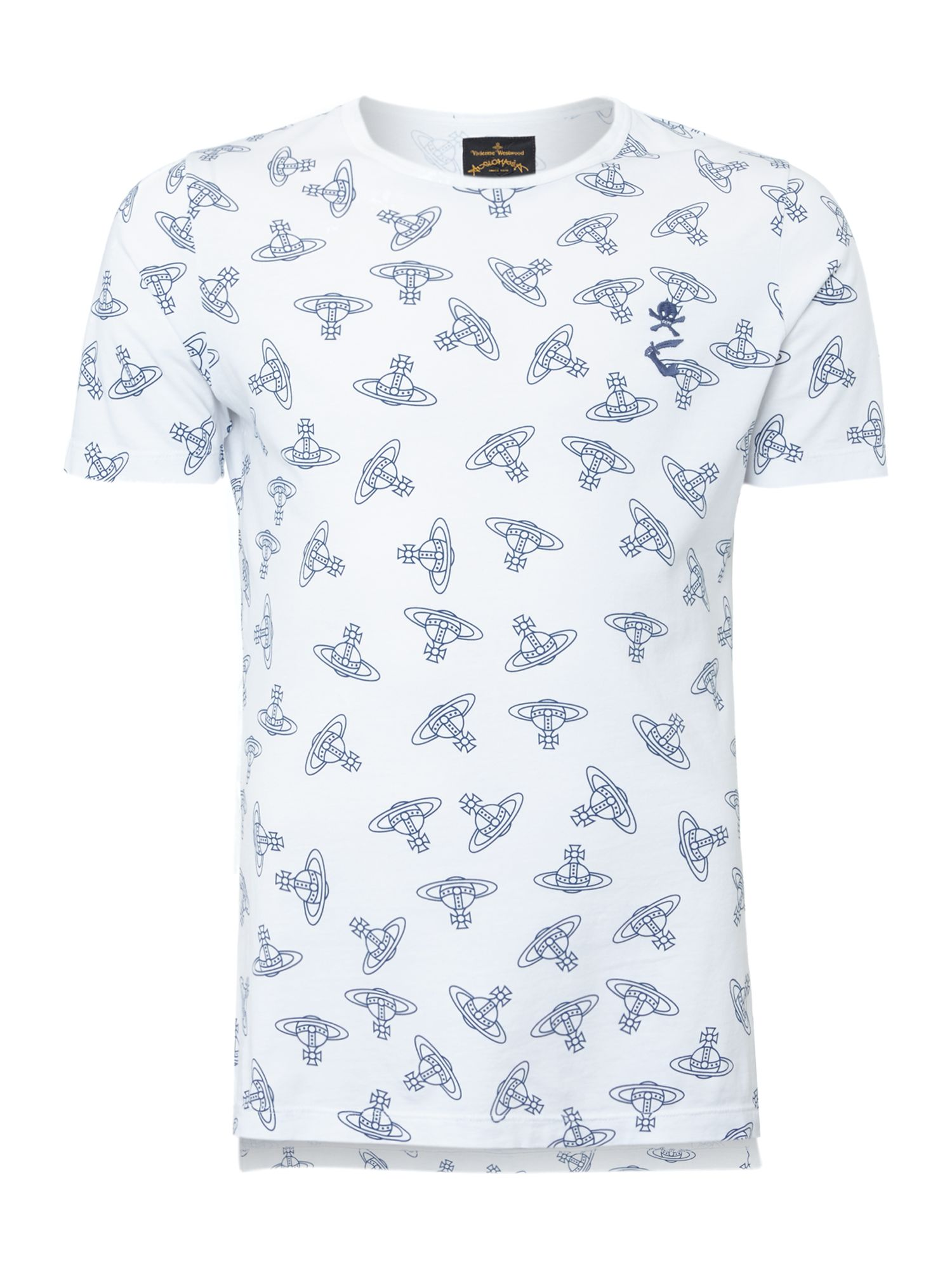 All over orb print t-shirt