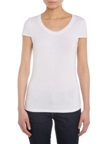 Jersey t-shirt with embellished sleeves