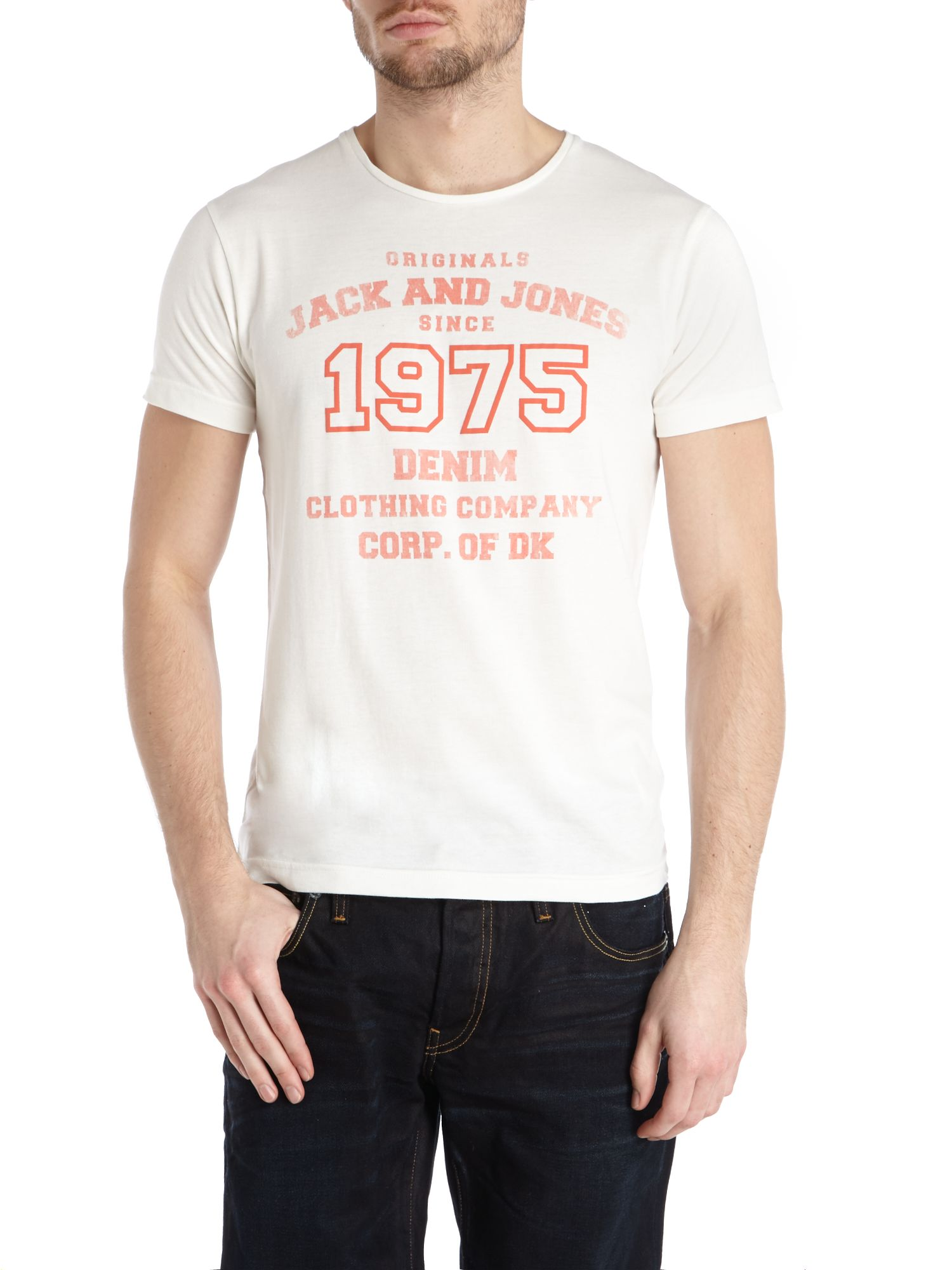 1975 denim print t-shirt