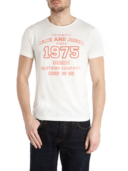 Jack & Jones 1975 denim print t-shirt