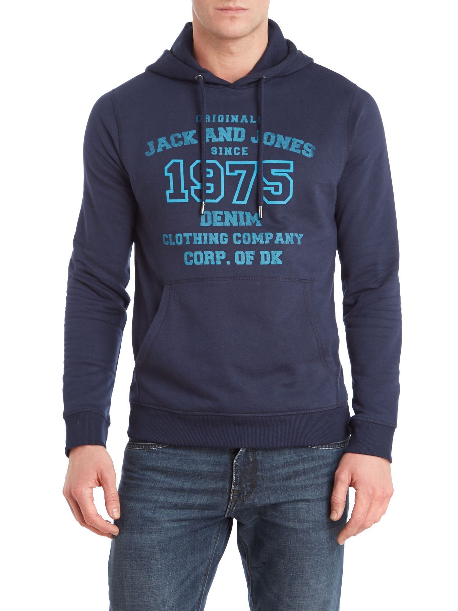 1975 denim hooded sweatshirt