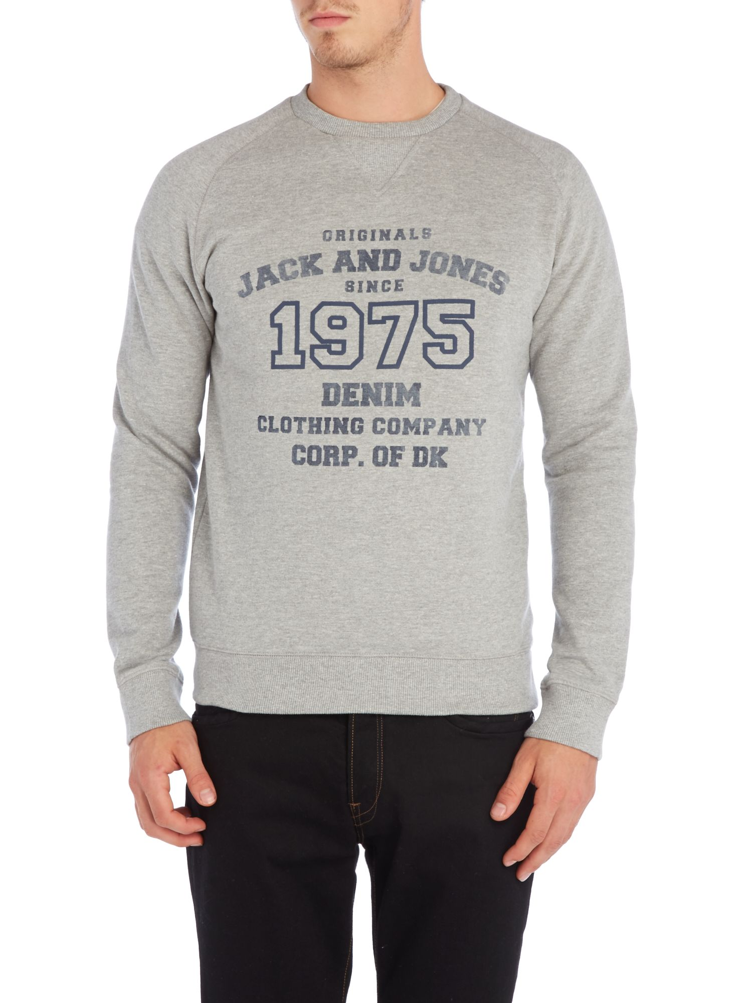 1975 denim crew neck sweatshirt