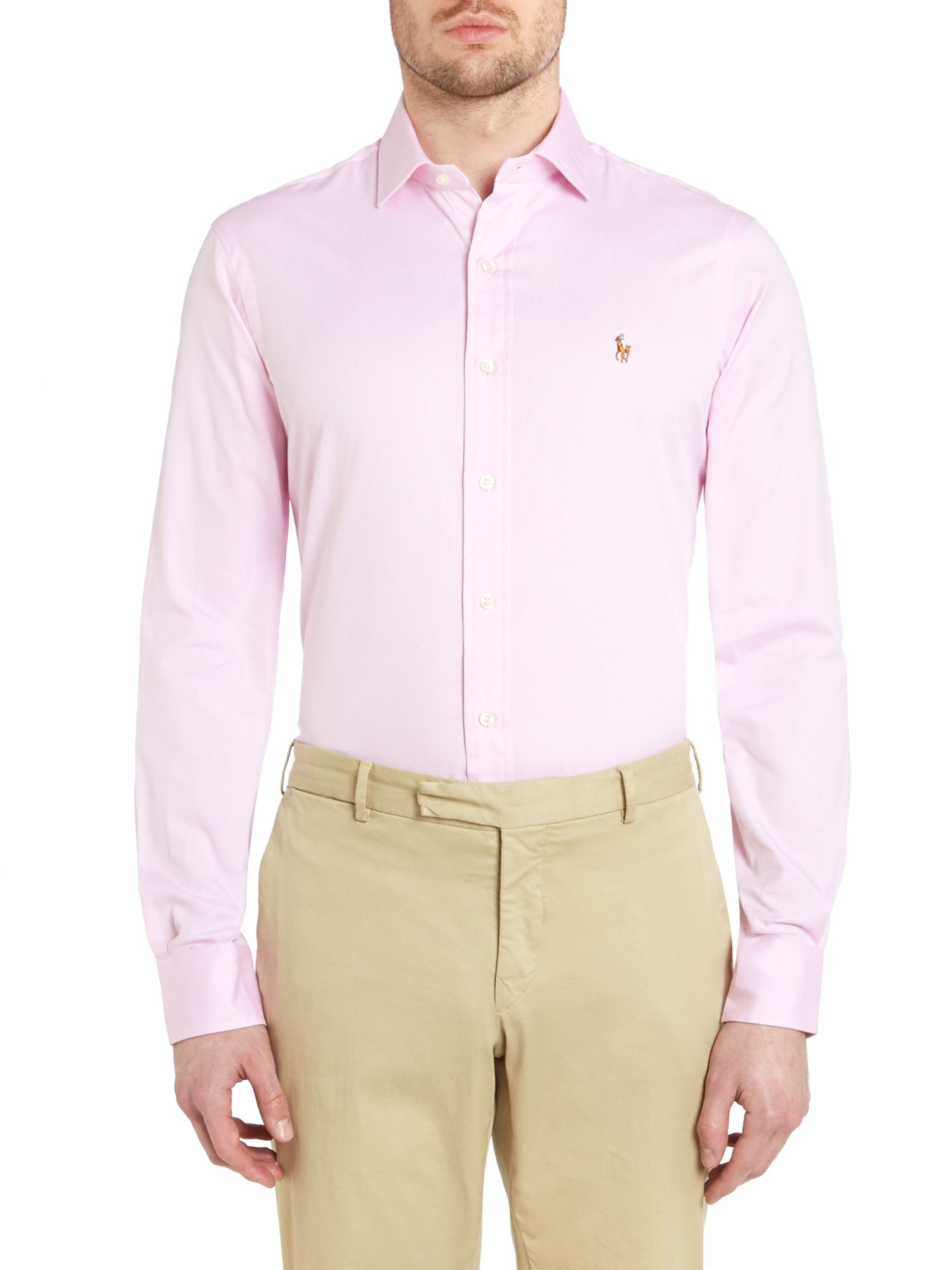 Long sleeve slim estate shirt