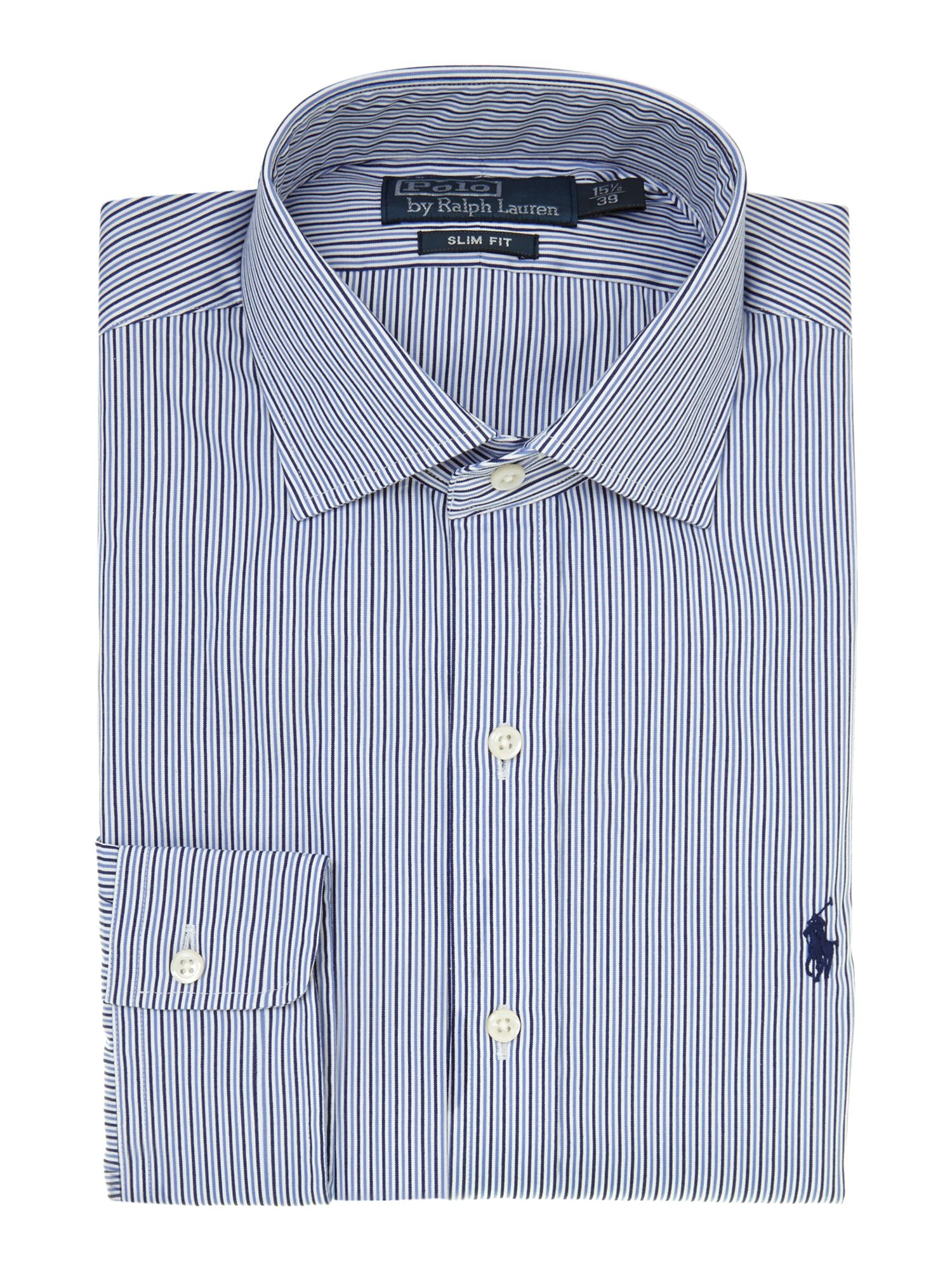 Long sleeve slim regent micro gingham shirt