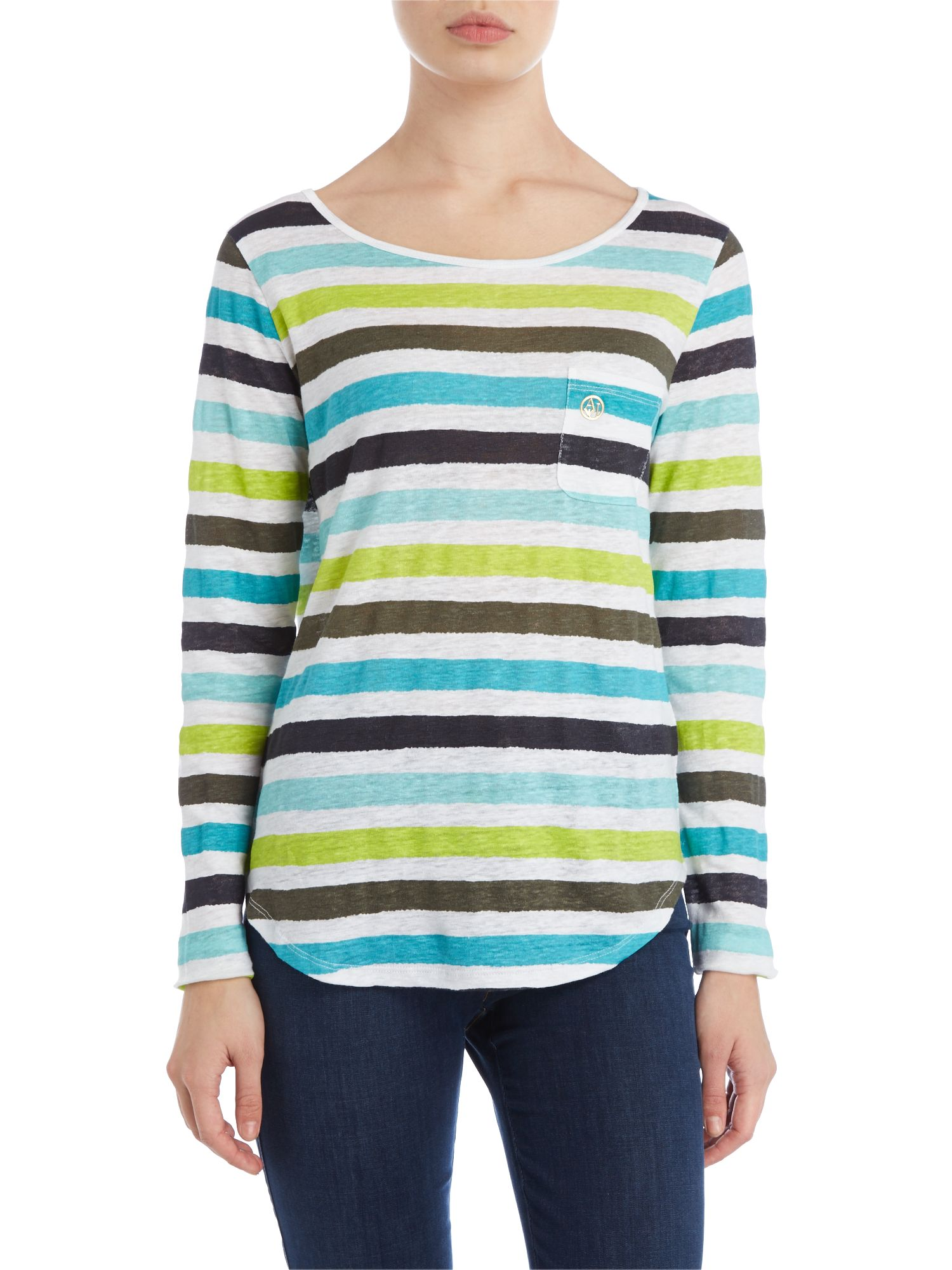 Long sleeve stripe top