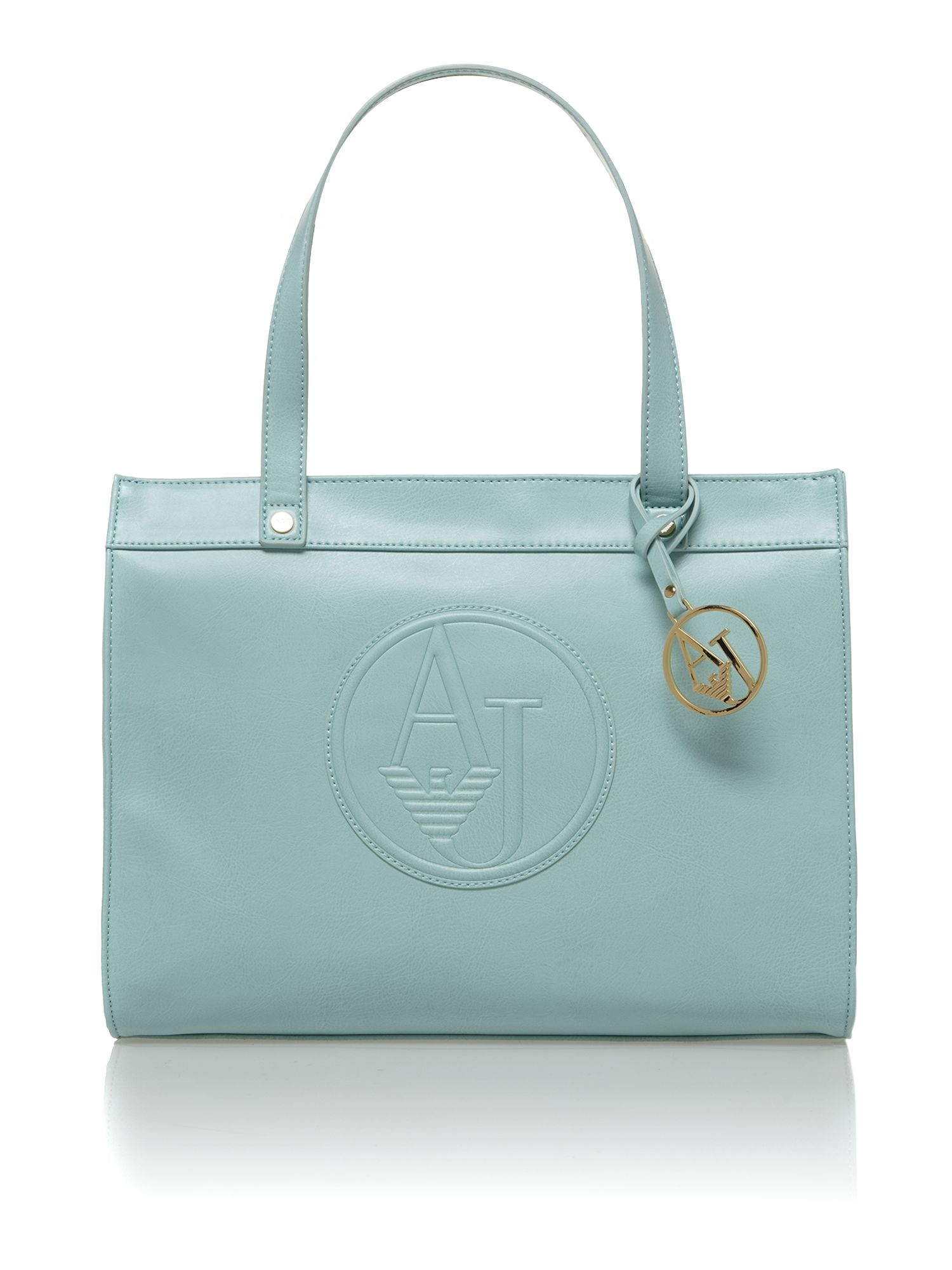 Large logo green tote bag