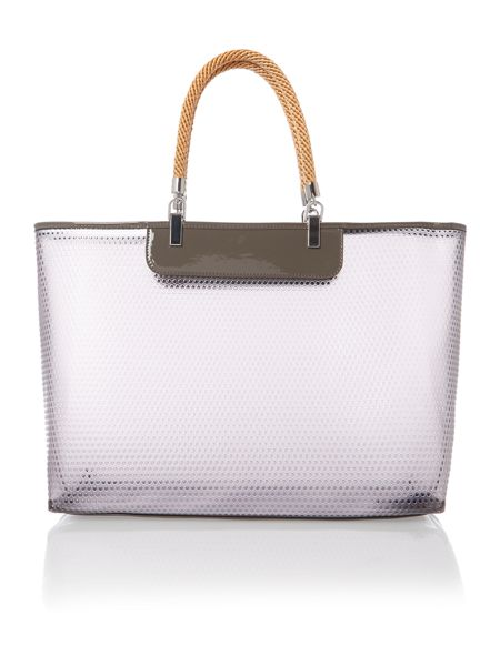 Armani Jeans Large grey beach bag with rope handles