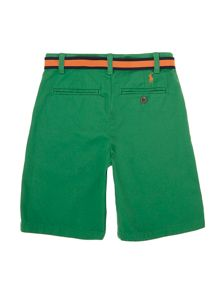 Boy`s belted chino shorts
