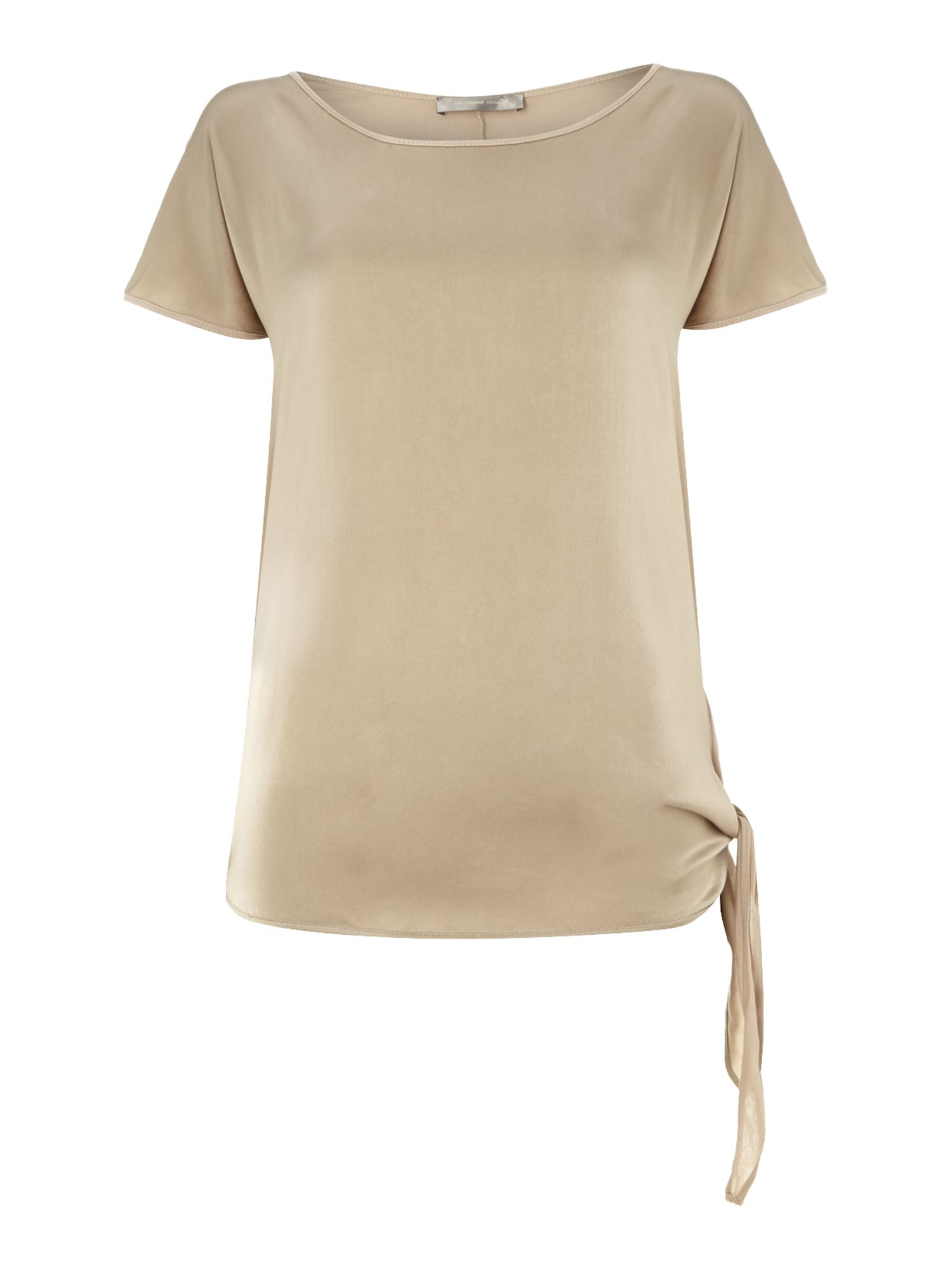Silk front knot detail t-shirt