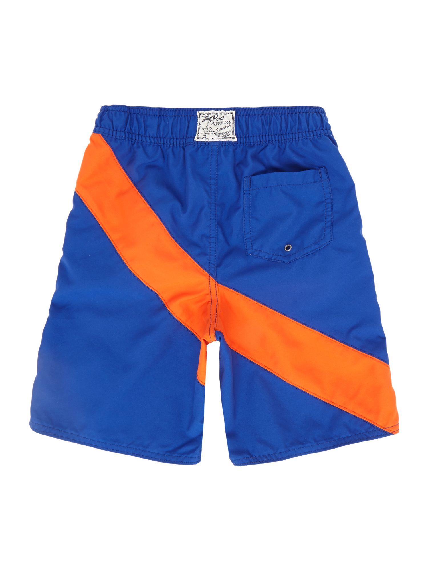 Boy`s diagonal stripe swim shorts