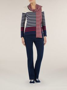 2 in 1 striped scarf top