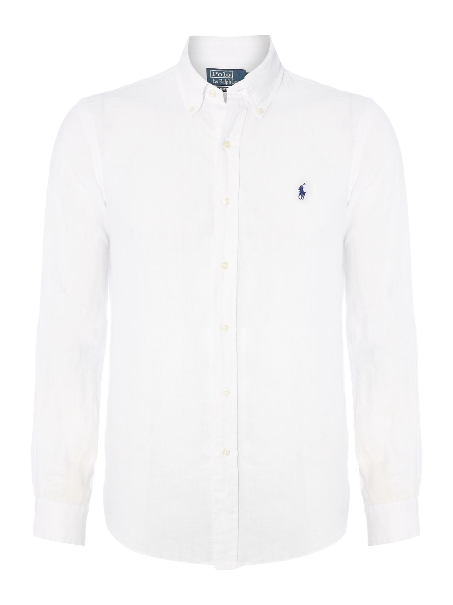 Classic long sleeve custom fit linen shirt