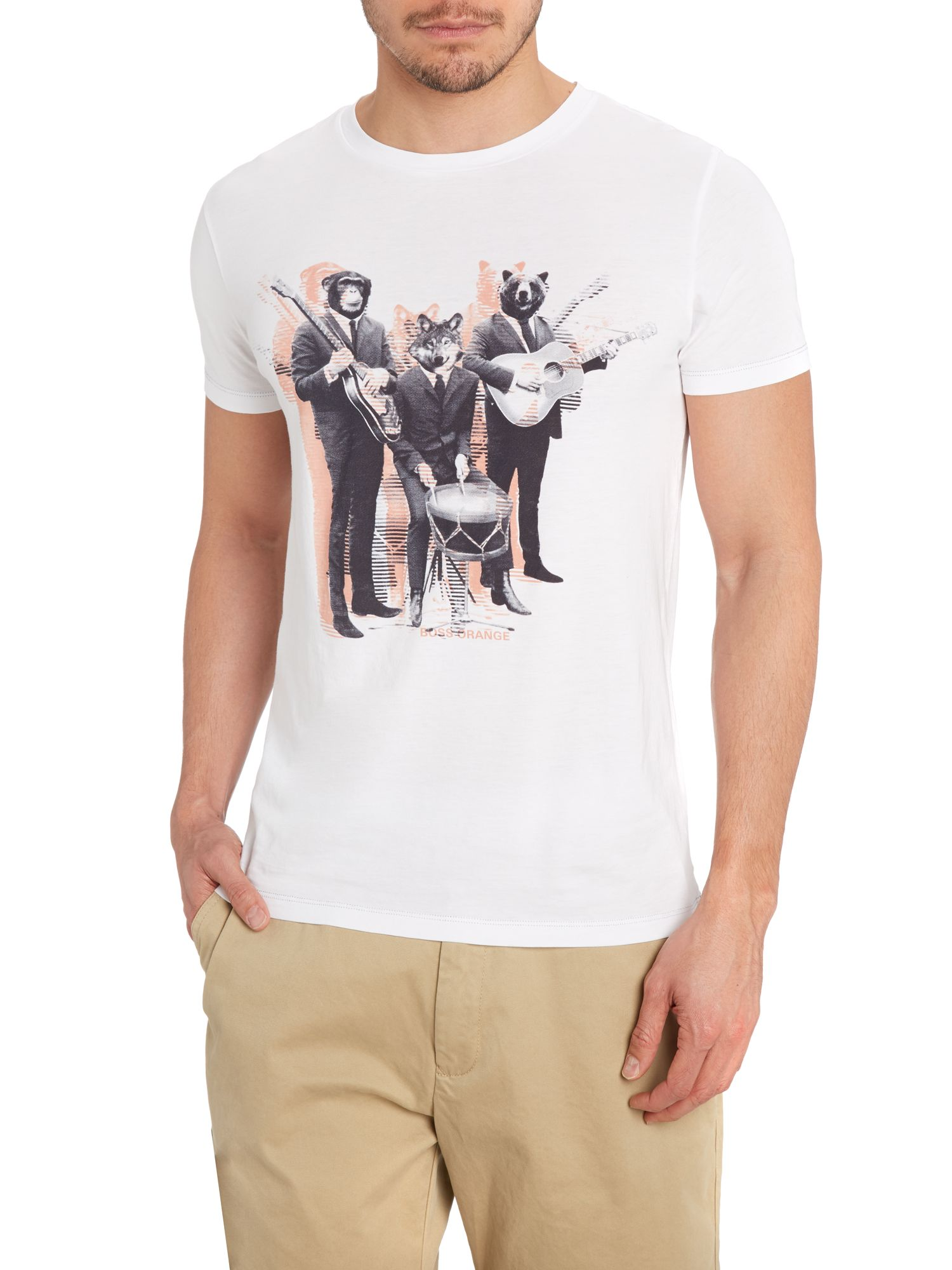 Animal band print t-shirt