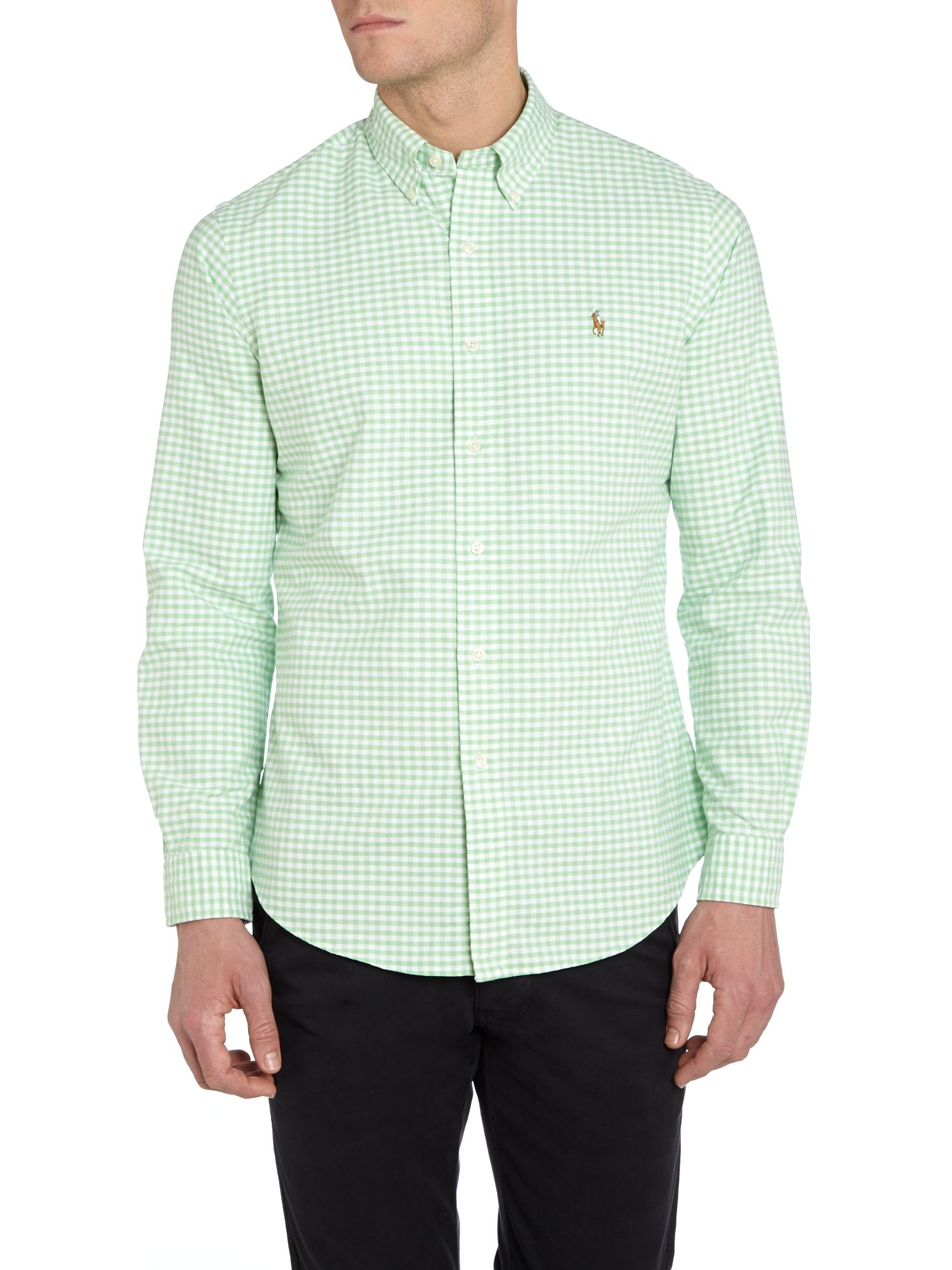 Classic long sleeve gingham shirt