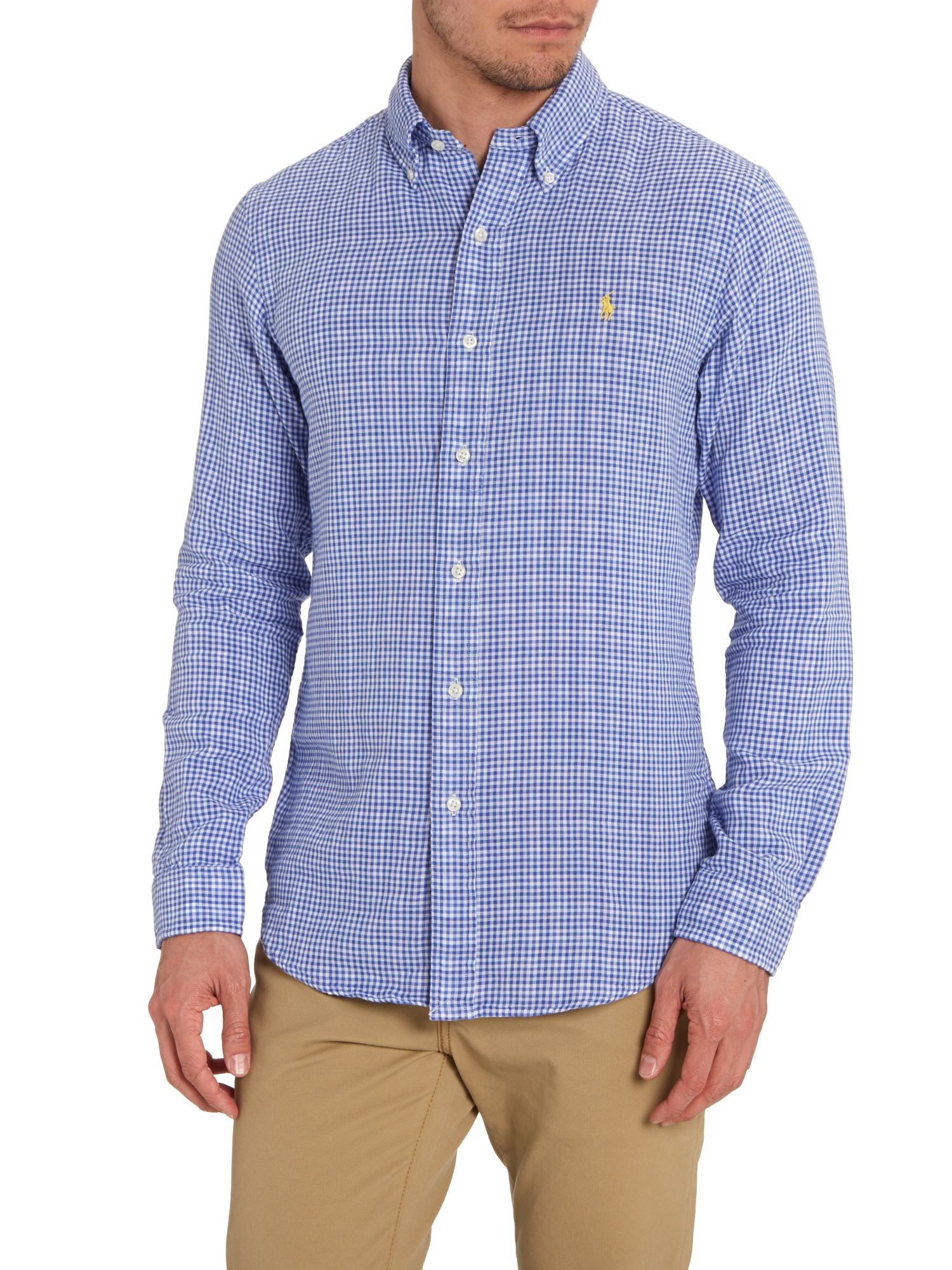 Classic micro gingham slim fit shirt