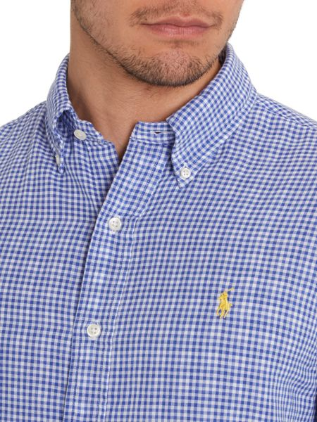 Polo Ralph Lauren Classic micro gingham slim fit shirt