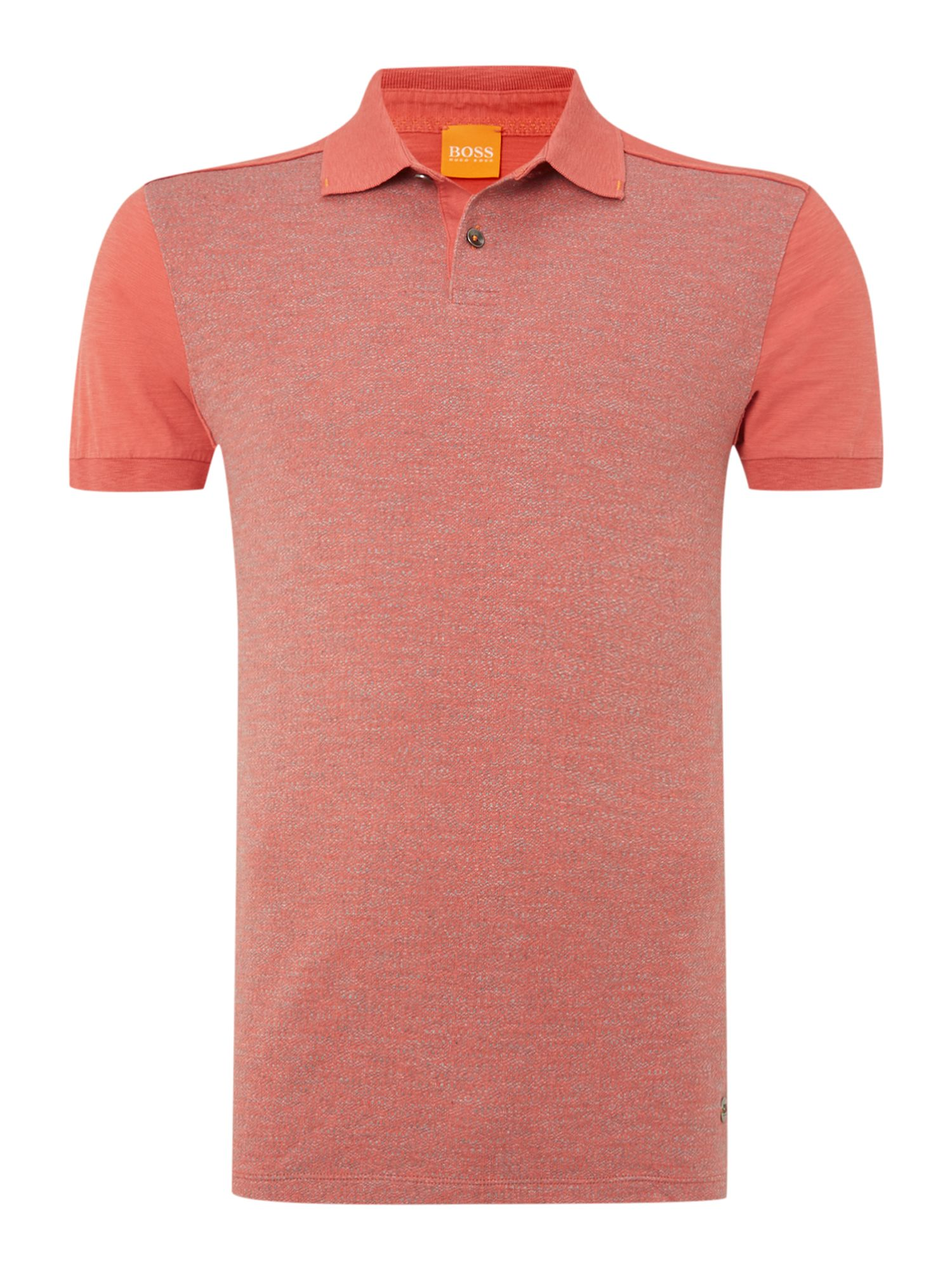 Patterned front polo