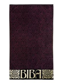 Biba Logo Beach Towel in Plum
